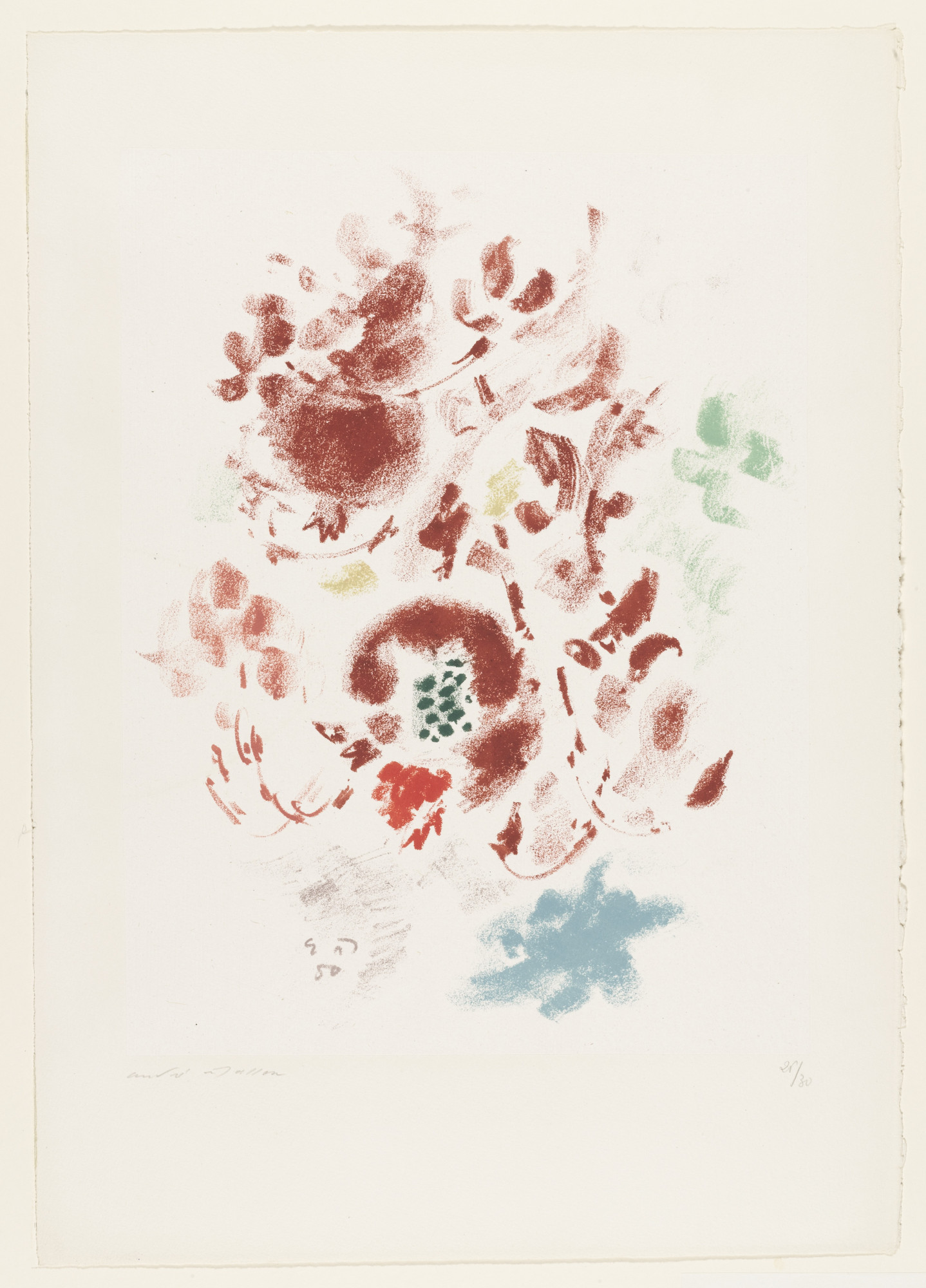 André Masson. Red Pomegranates. 1950