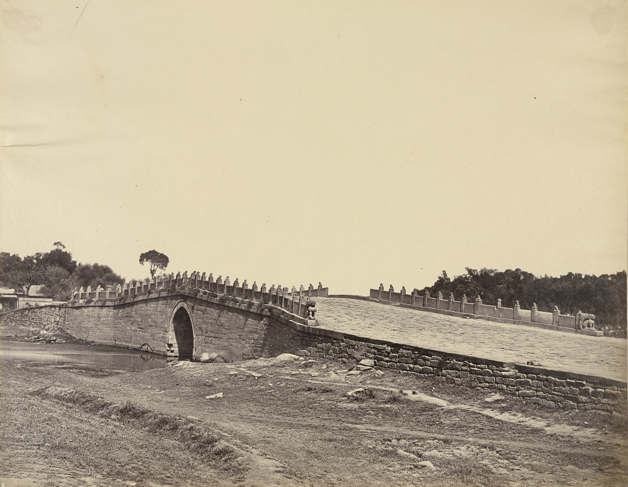 Felice Beato. Bridge of Palichian, the Scene of the Fight with Imperial Chinese Troops. September 21, 1860