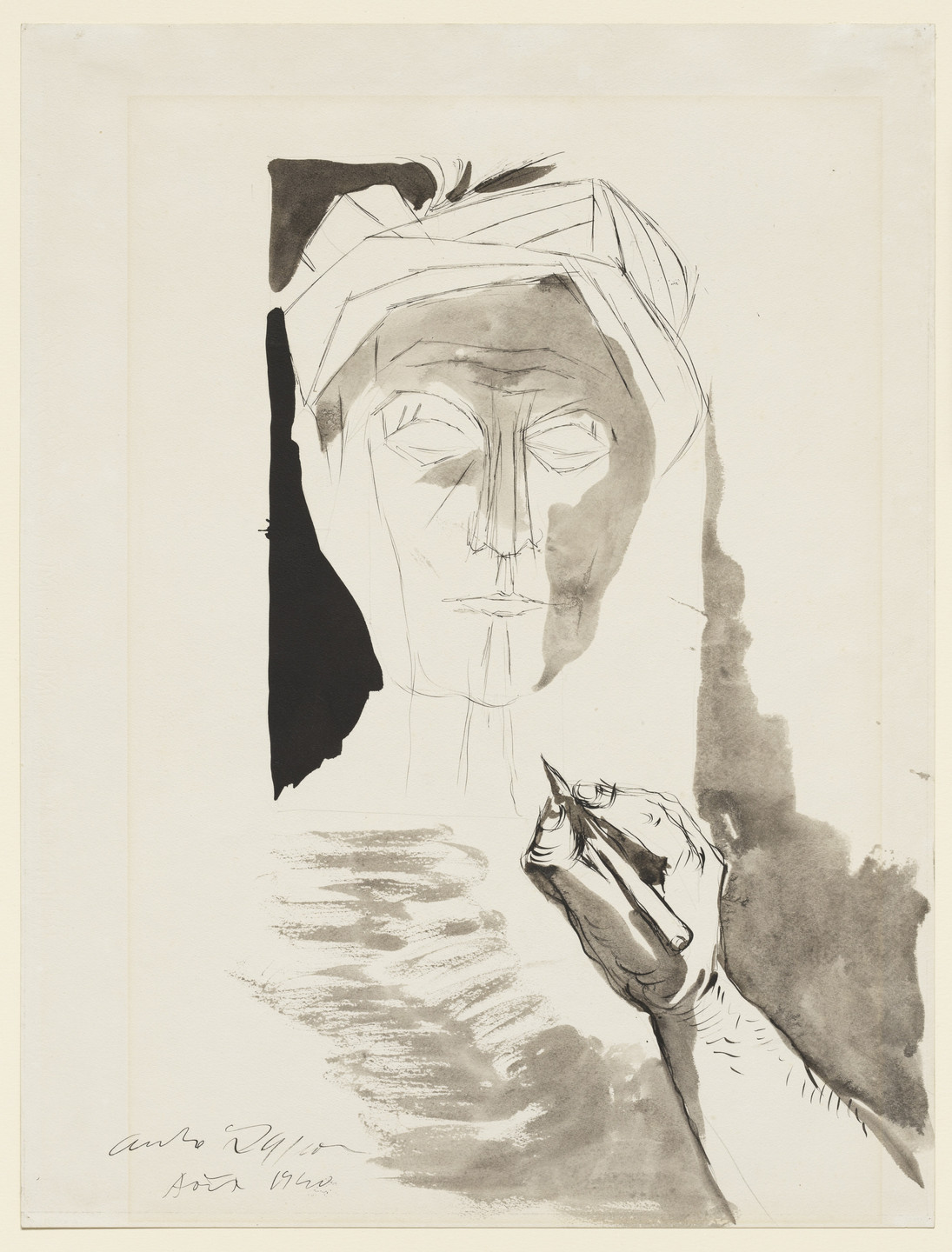 André Masson. Myself Drawing Dante. 1940