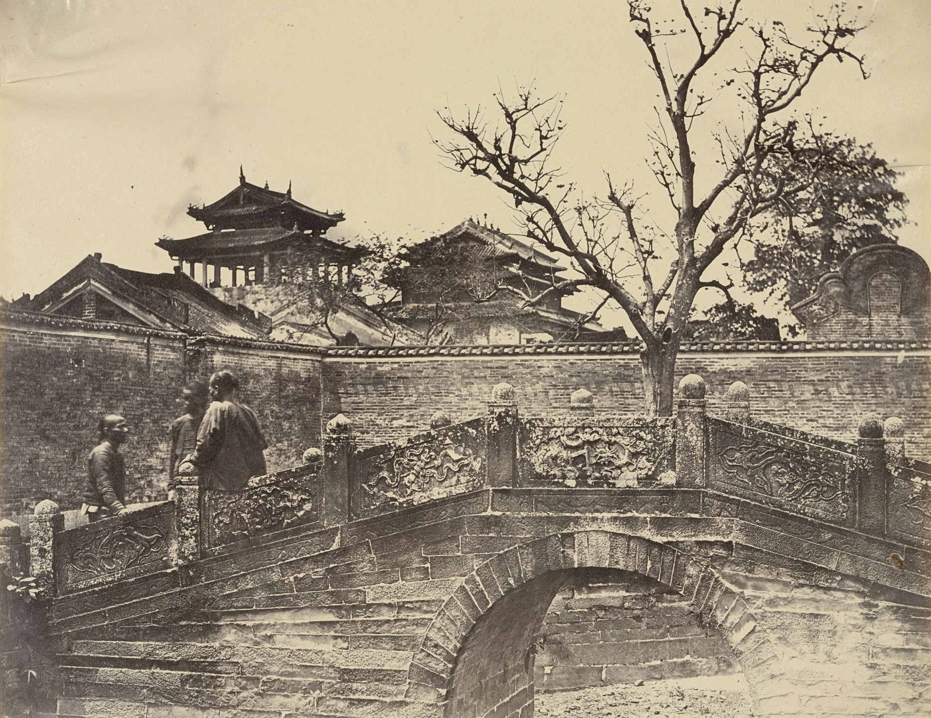 Felice Beato. Bridge in Confucious Temple, Canton. April 1860
