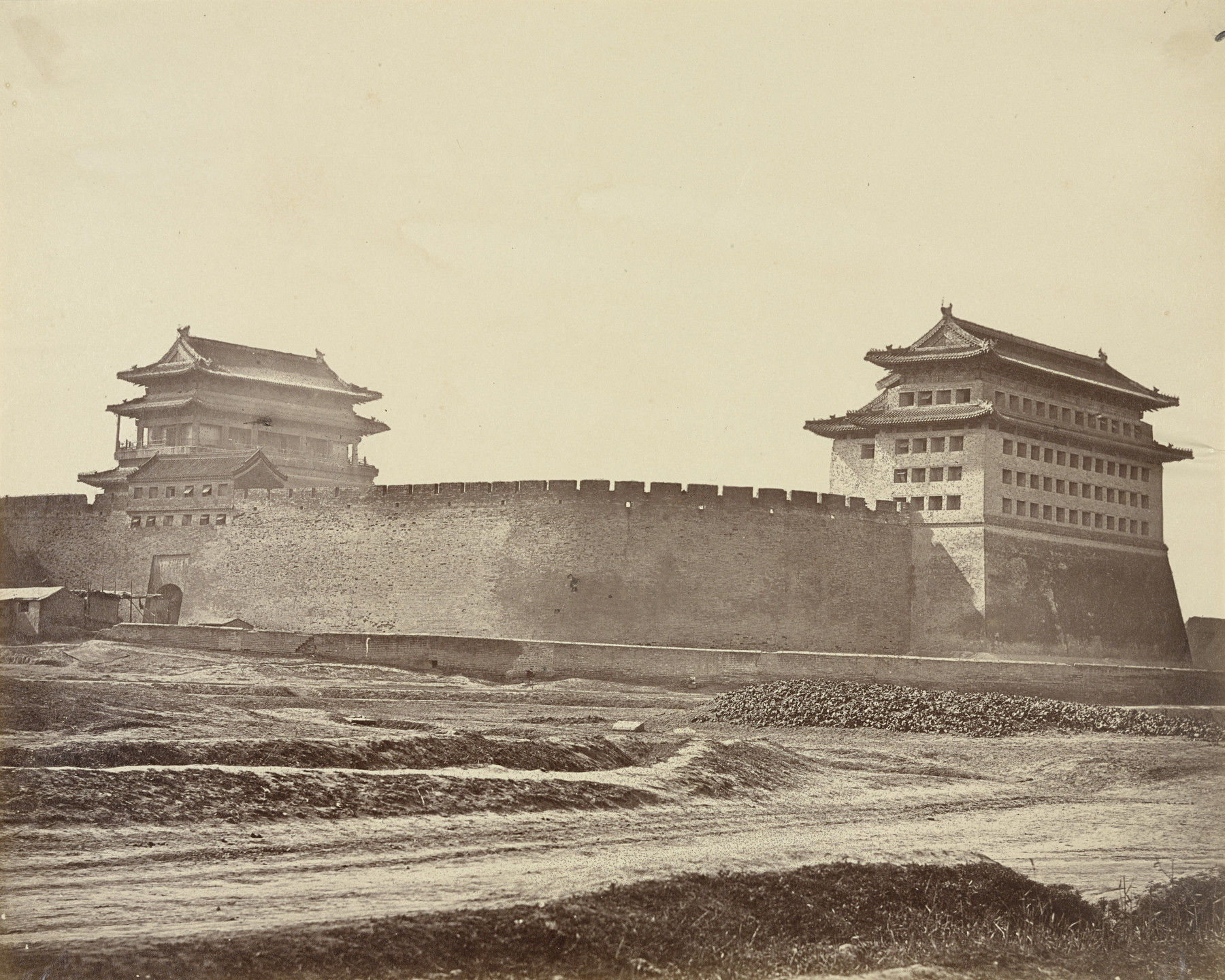 Felice Beato. Anting Gate of Peking After the Surrender, English and French Troops Take Possession. October 21, 1860
