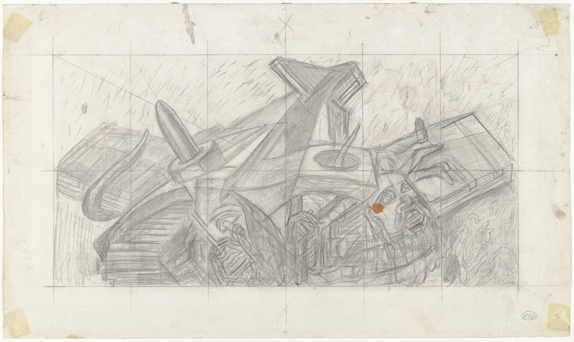 José Clemente Orozco. Study for Dive Bomber and Tank. 1940