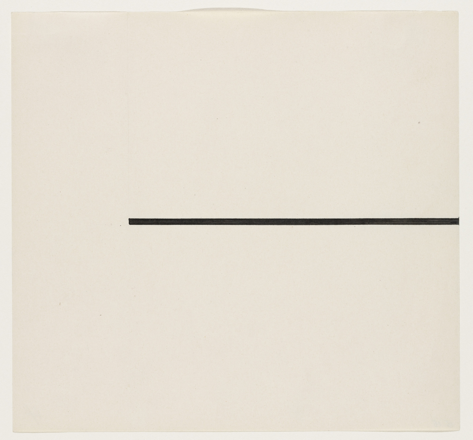 Ellsworth Kelly. Horizontal Line. 1951