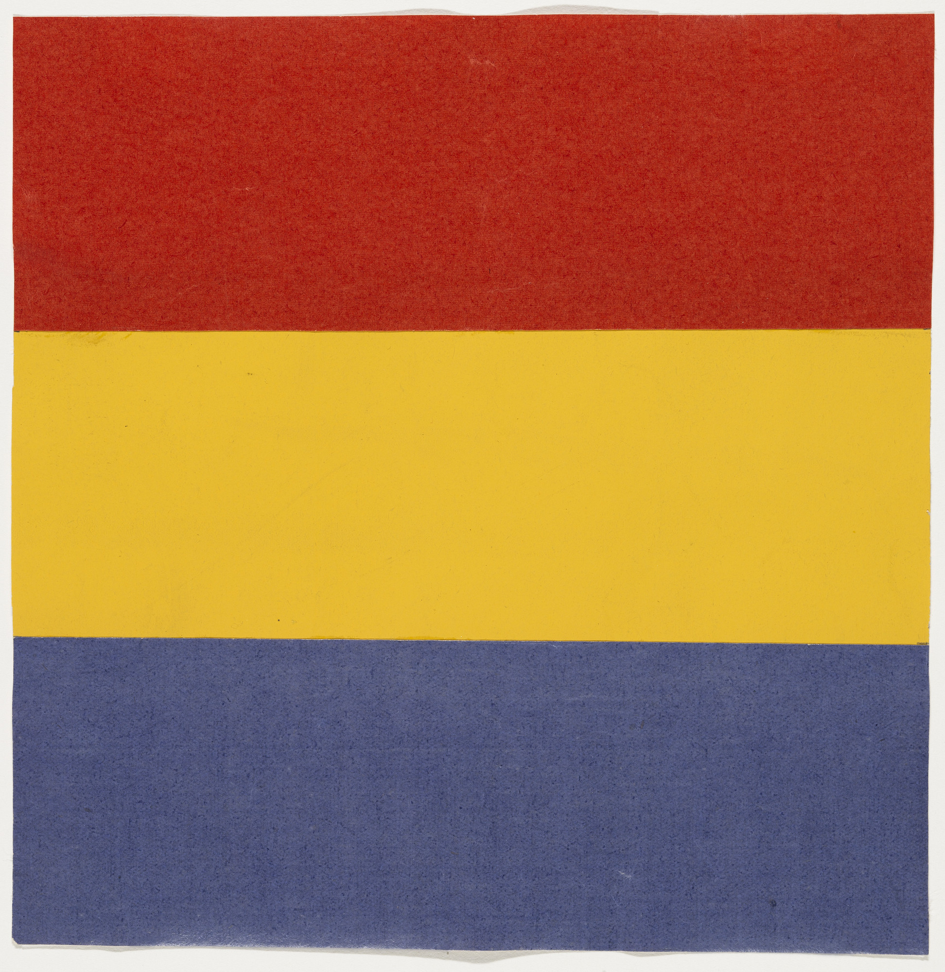 Ellsworth Kelly. Red, Yellow, Blue. 1951