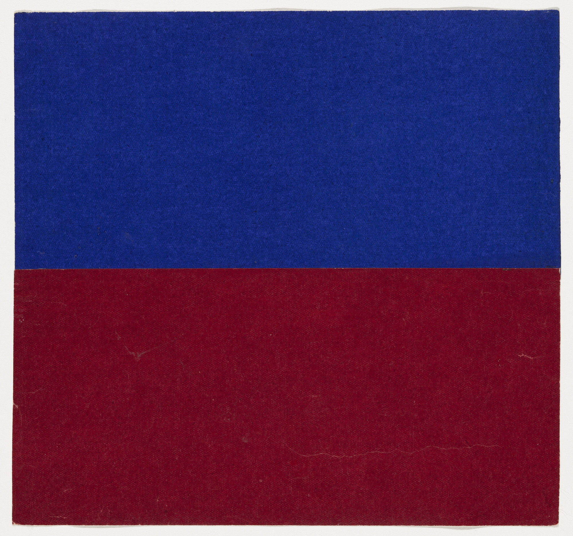 Ellsworth Kelly. Blue and Red. 1951
