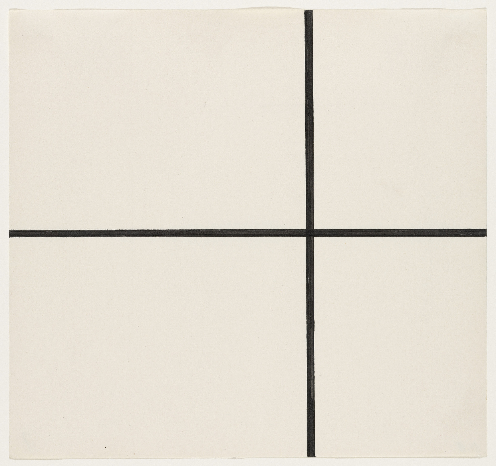 Ellsworth Kelly. Horizontal and Vertical Lines. 1951