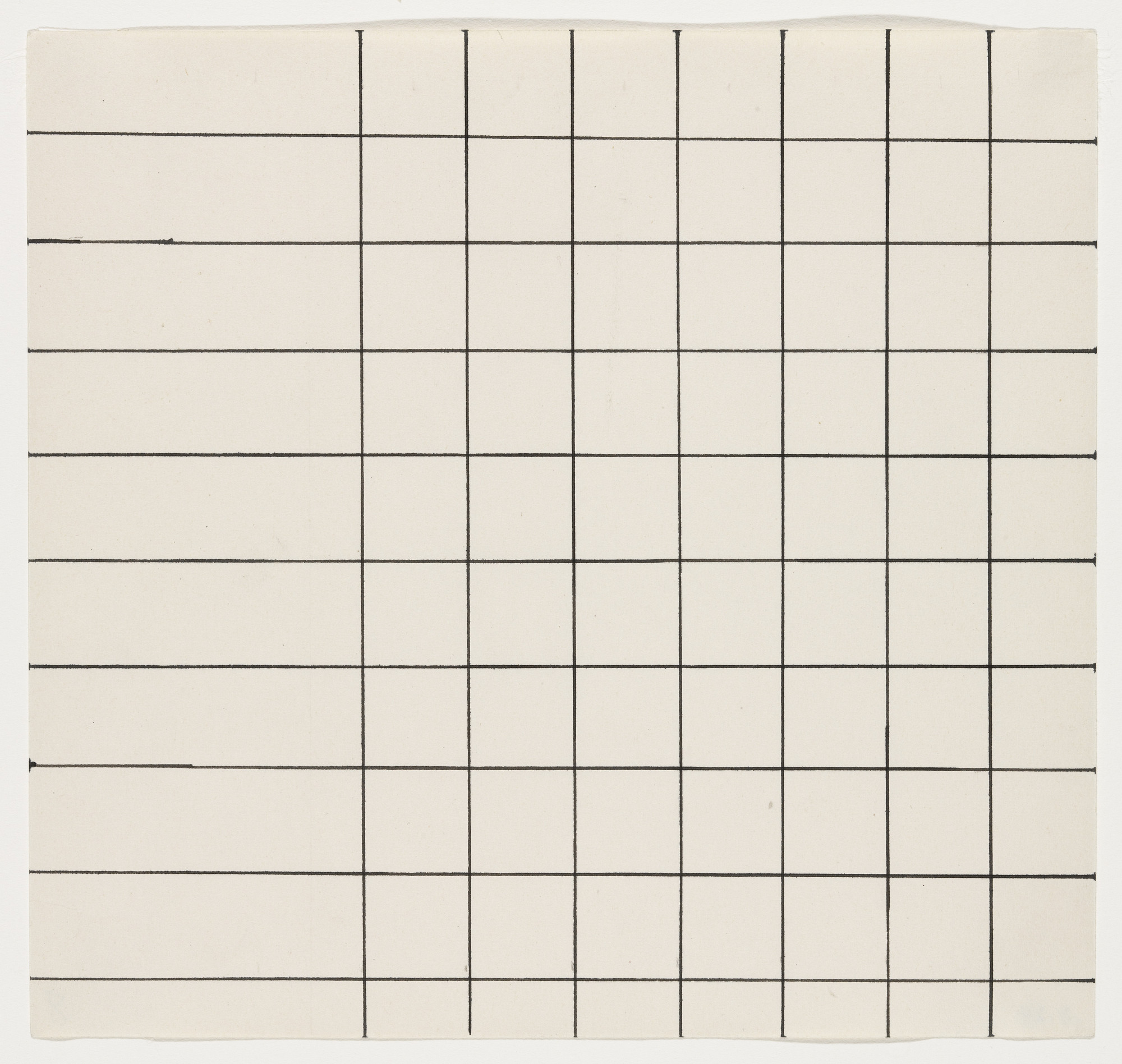 Ellsworth Kelly. Grid Lines from the series Line Form Color. 1951