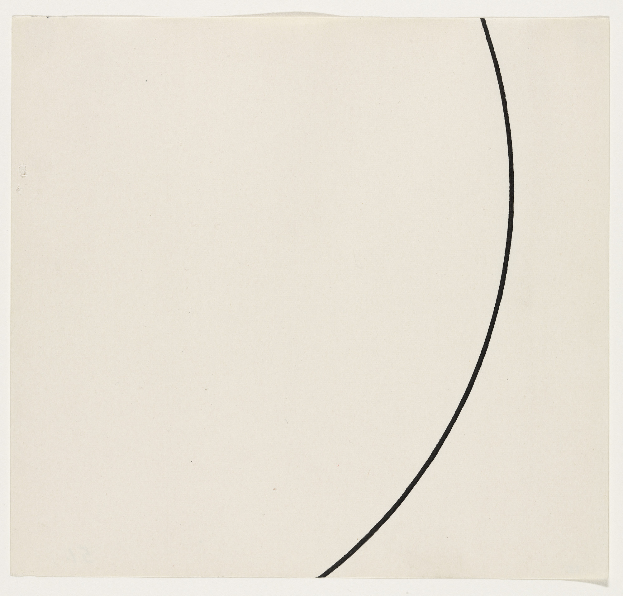 Ellsworth Kelly. Curve. 1951
