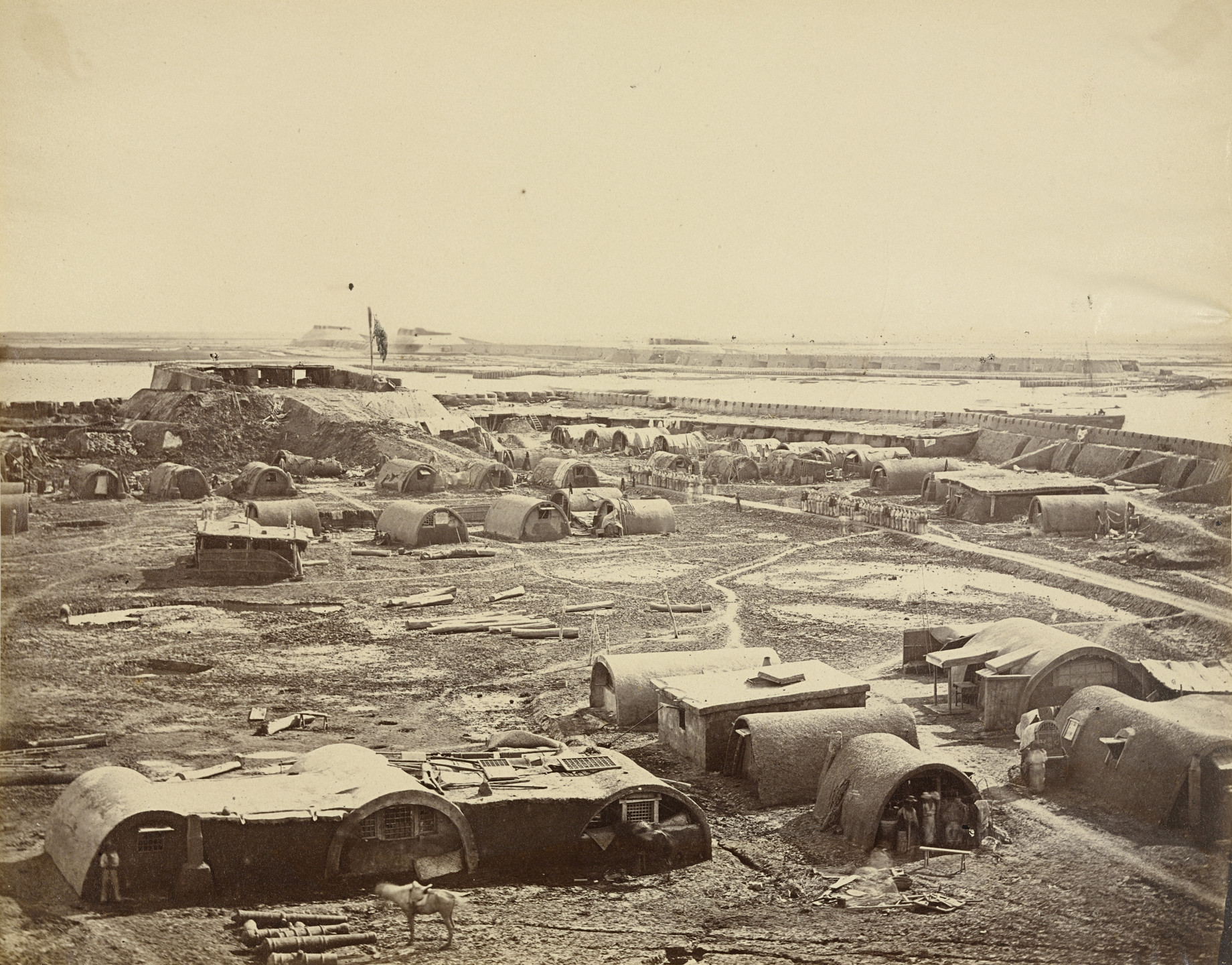 Felice Beato. Interior of the North Fort Showing the Chinese Encampment. August 21, 1860