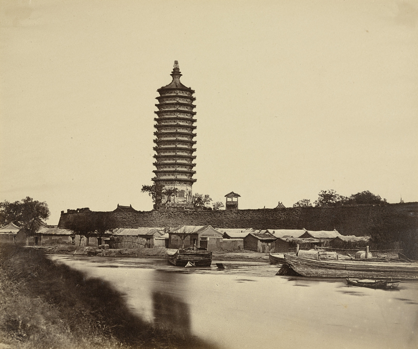 Felice Beato. Tung Chow Pagoda. September 23, 1860
