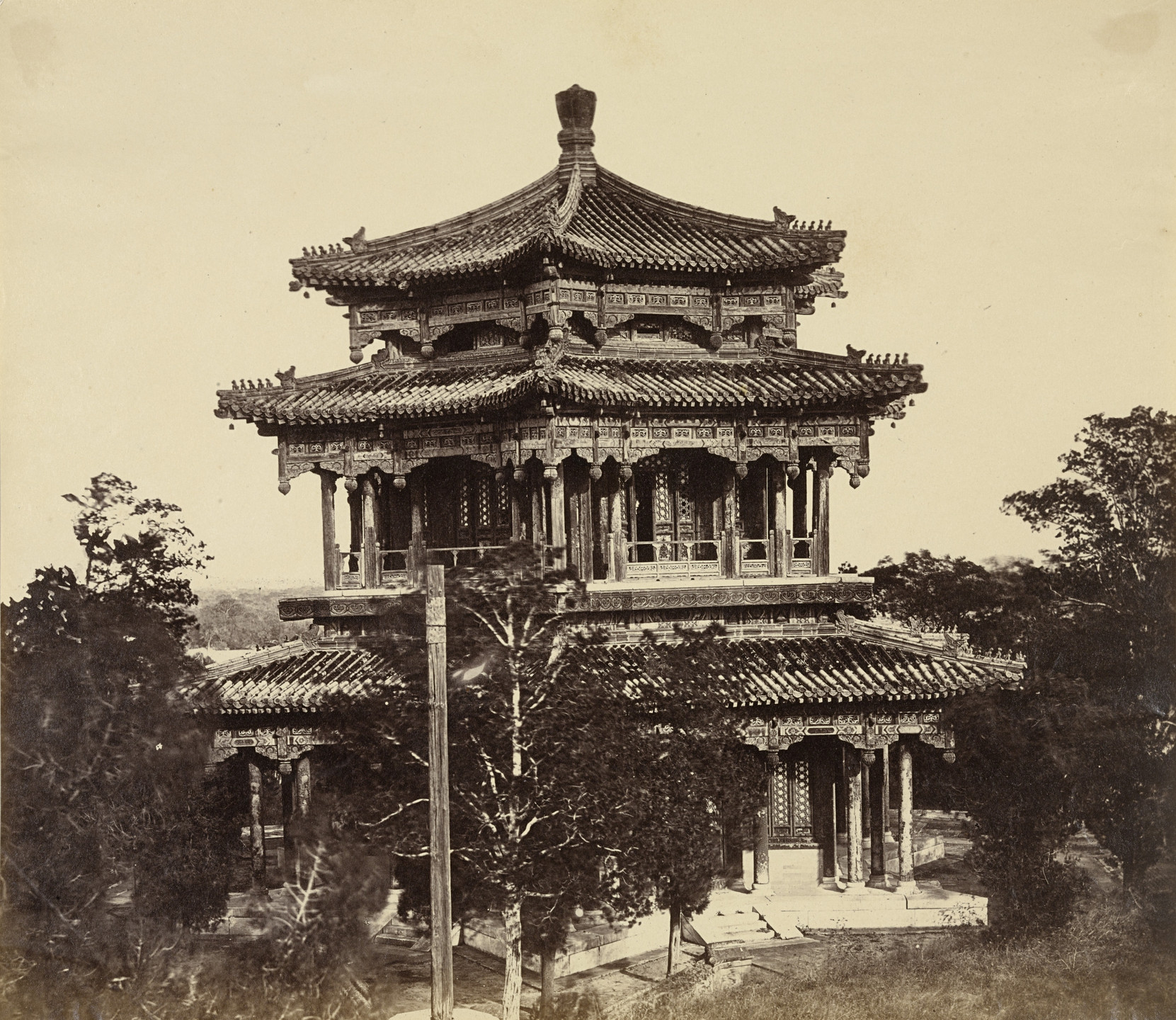 Felice Beato. The Great Imperial Palace Yuen Ming Yuen Before the Burning, Pekin. October 18, 1860