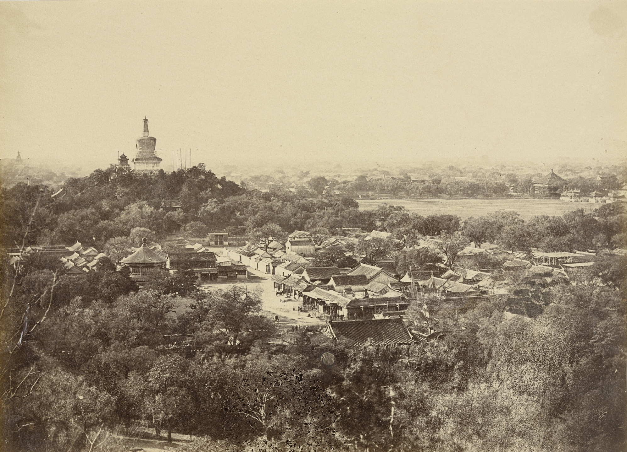 Felice Beato. View of the Gardens and Buddhist Temple of Peking, October 29, 1860. 1860