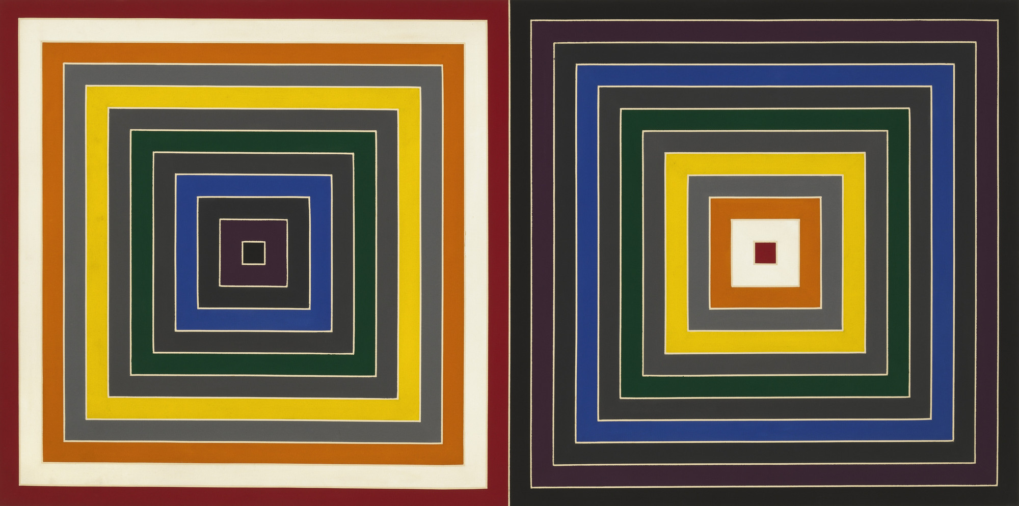 Frank Stella. Gray Scrambled Double Square. 1964