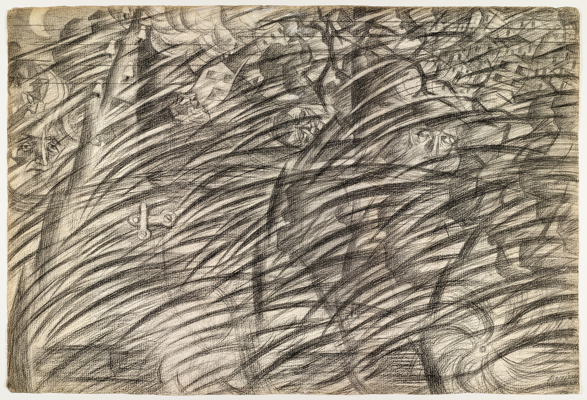 Umberto Boccioni. States of Mind: Those Who Go. (1911)