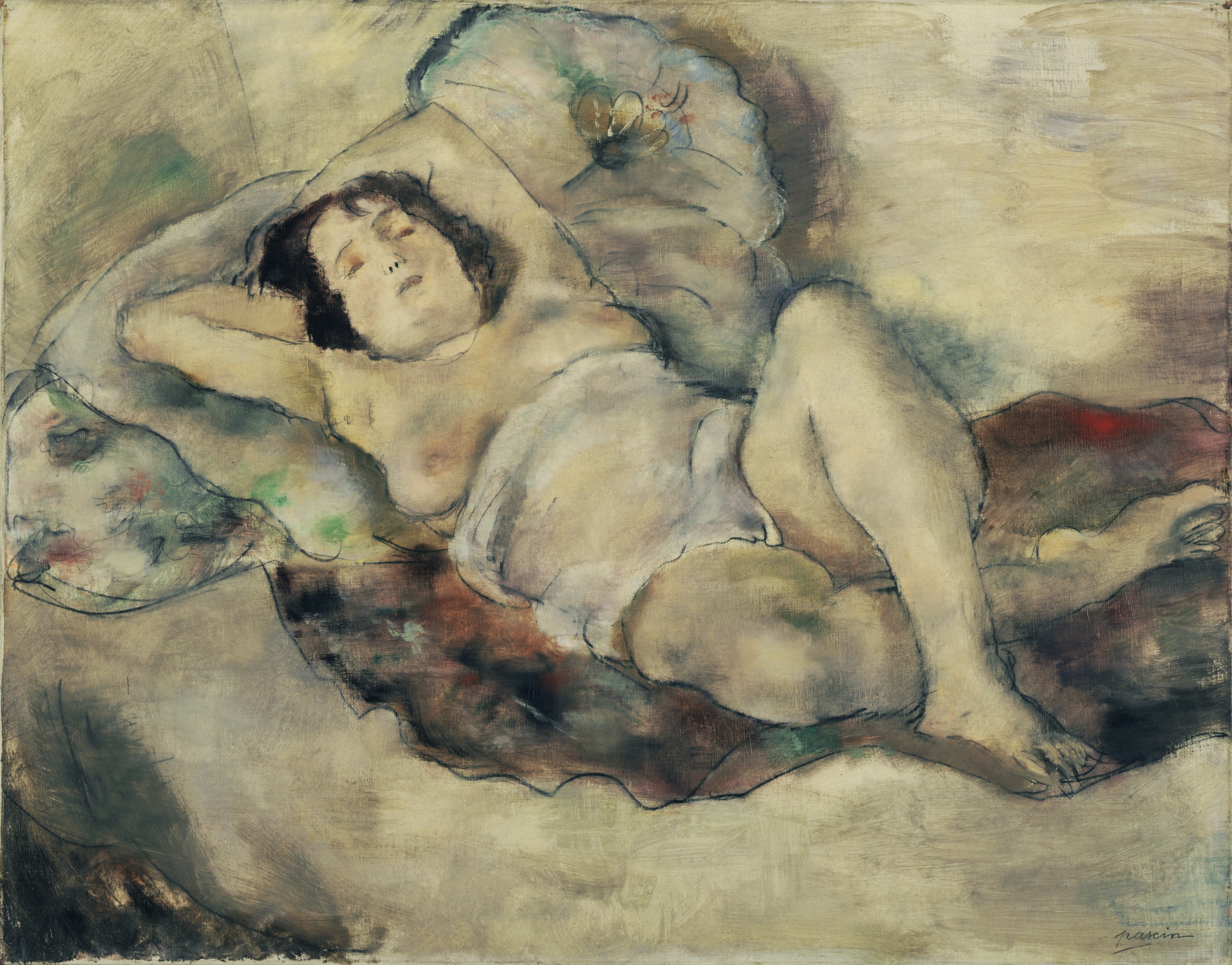 Jules Pascin. Reclining Model. c. 1925