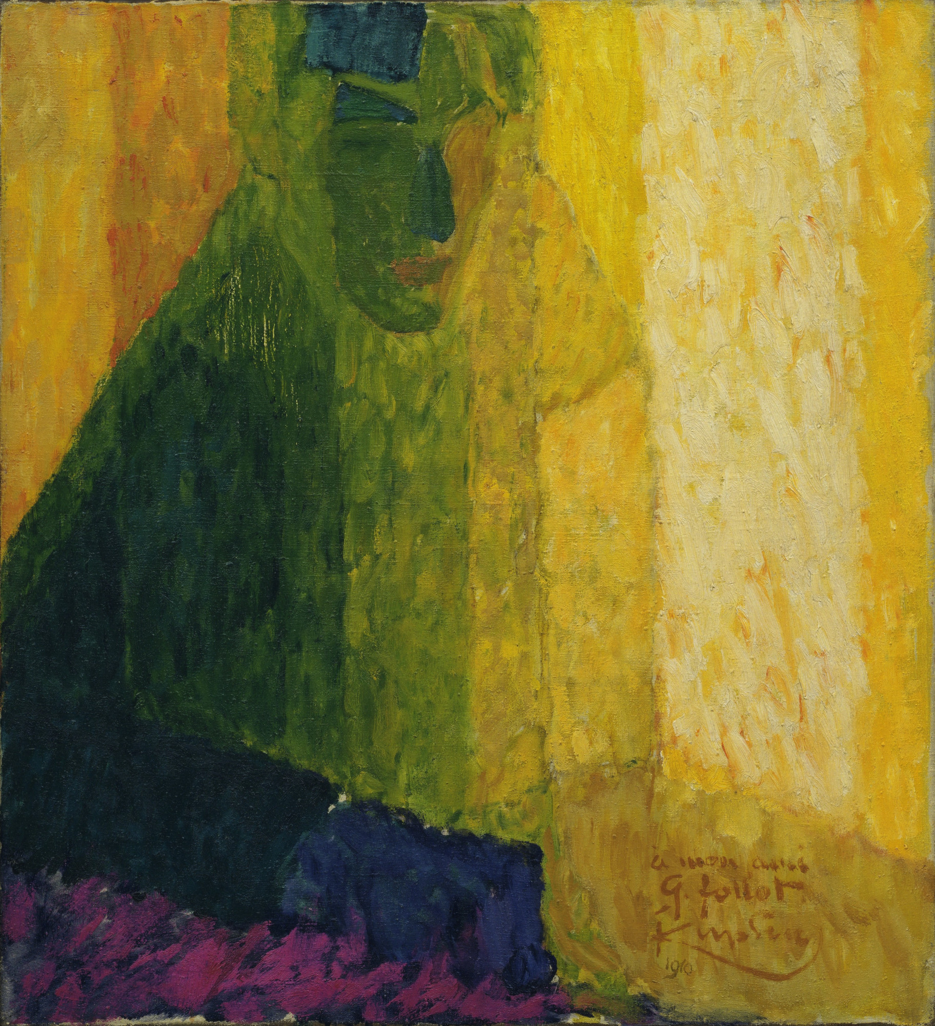 František Kupka. The Musician Follot. 1911? (dated on painting 1910)