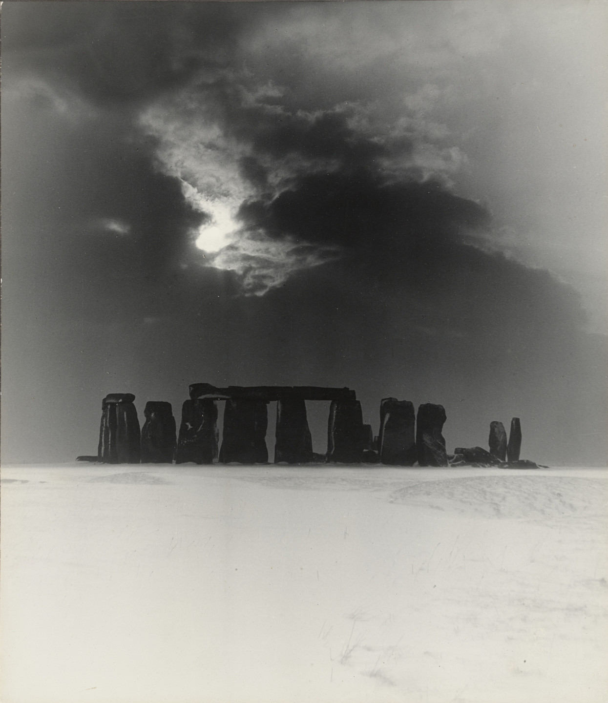 Bill Brandt. Stonehenge under Snow. 1947