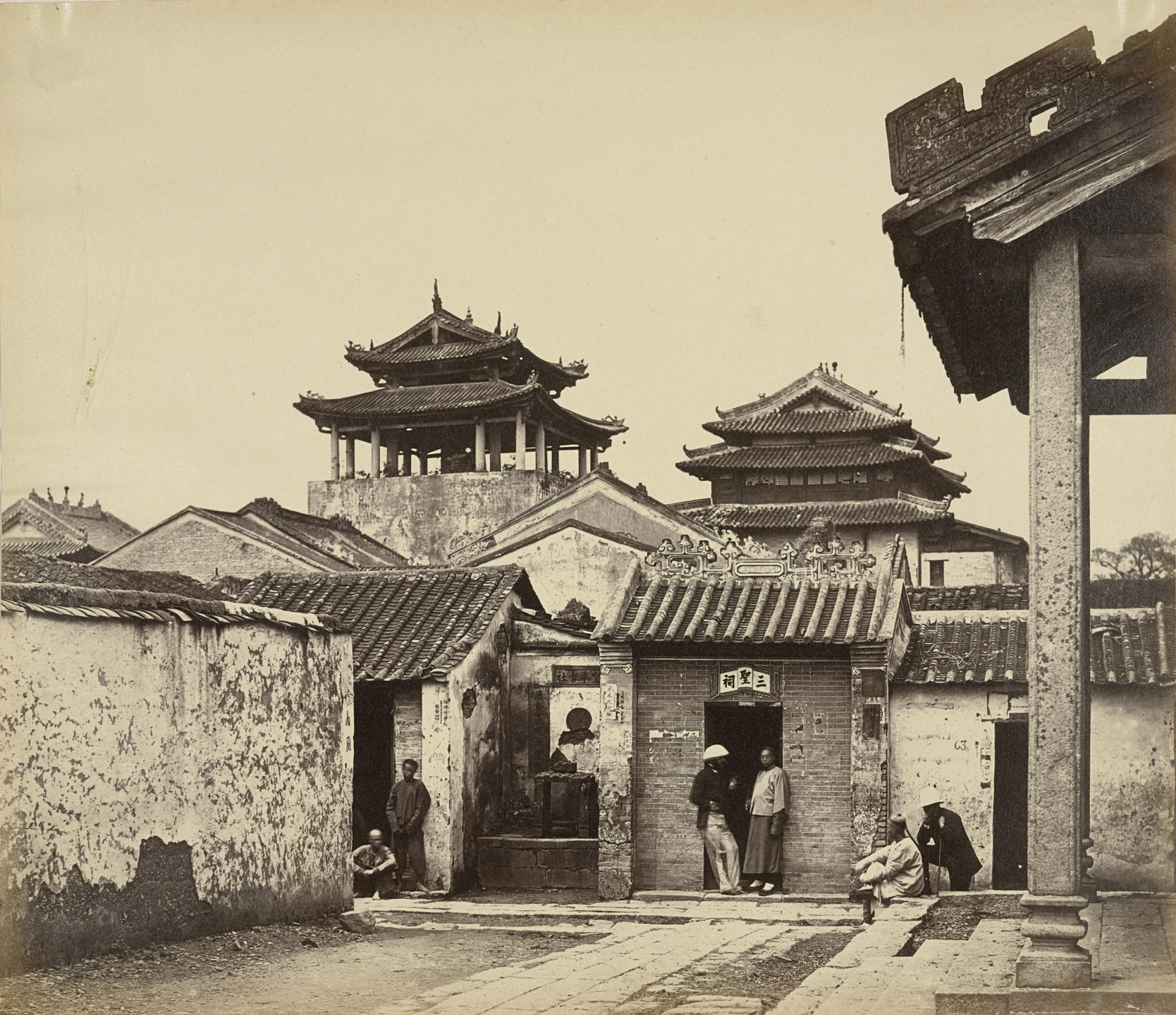Felice Beato. Five Genii Temple from the Name Hui Tuk Kung, Canton. April 1860