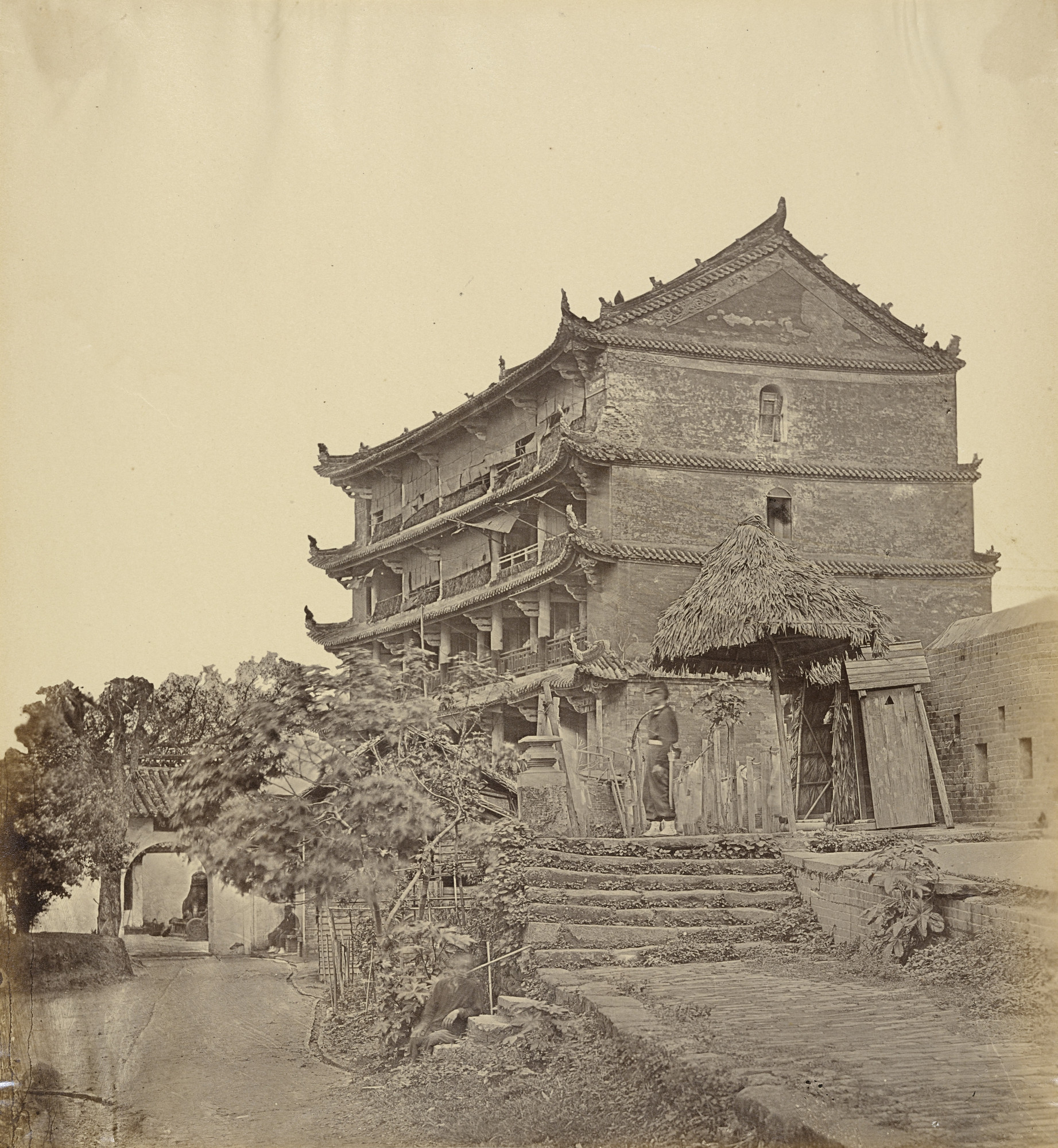 Felice Beato. Five Storied Pagoda, Canton. April 1860