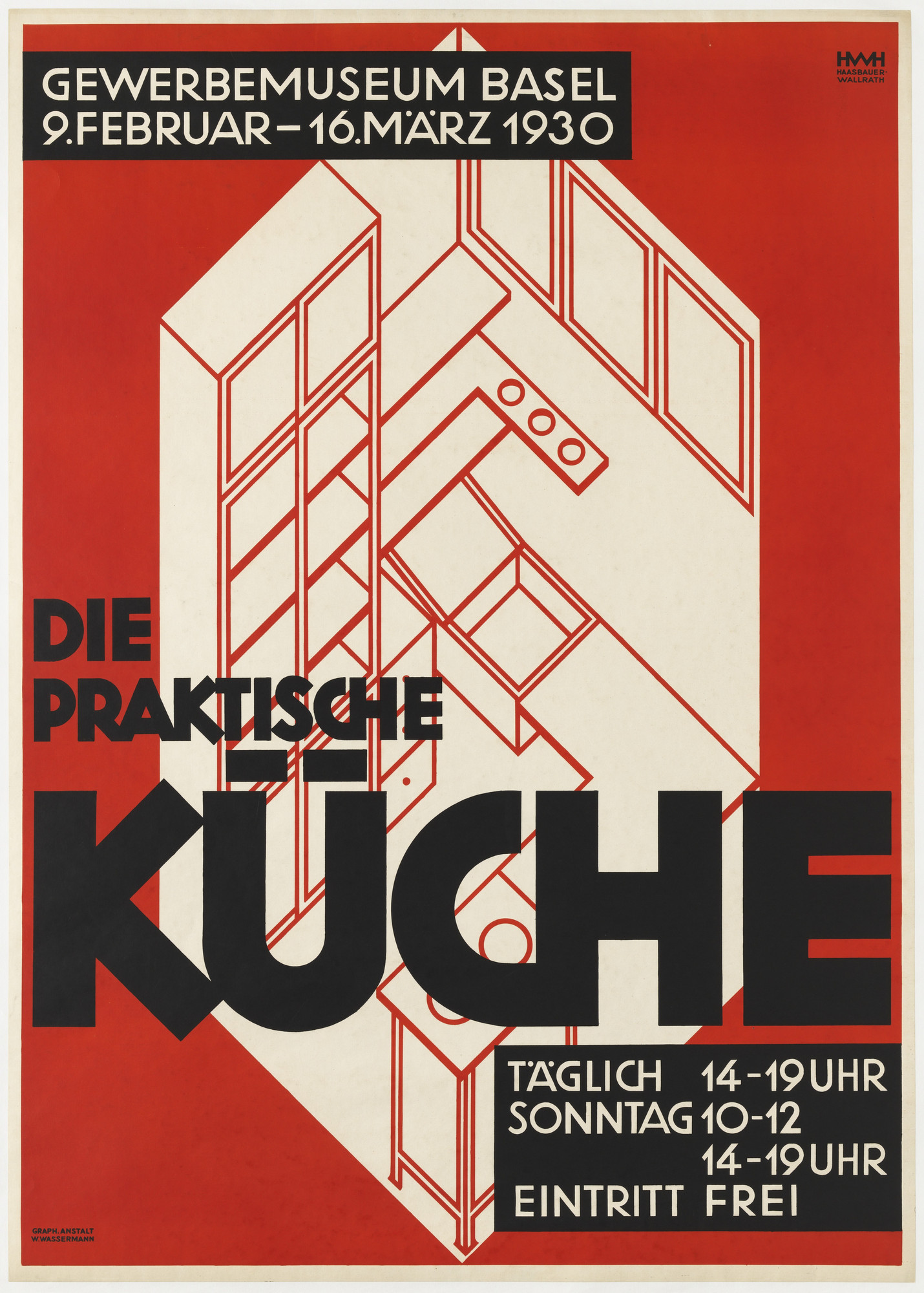 Helene Haasbauer-Wallrath. Die Praktische Küche (The Practical Kitchen) (Poster for an exhibition at the Gewerbemuseum Basel). 1930