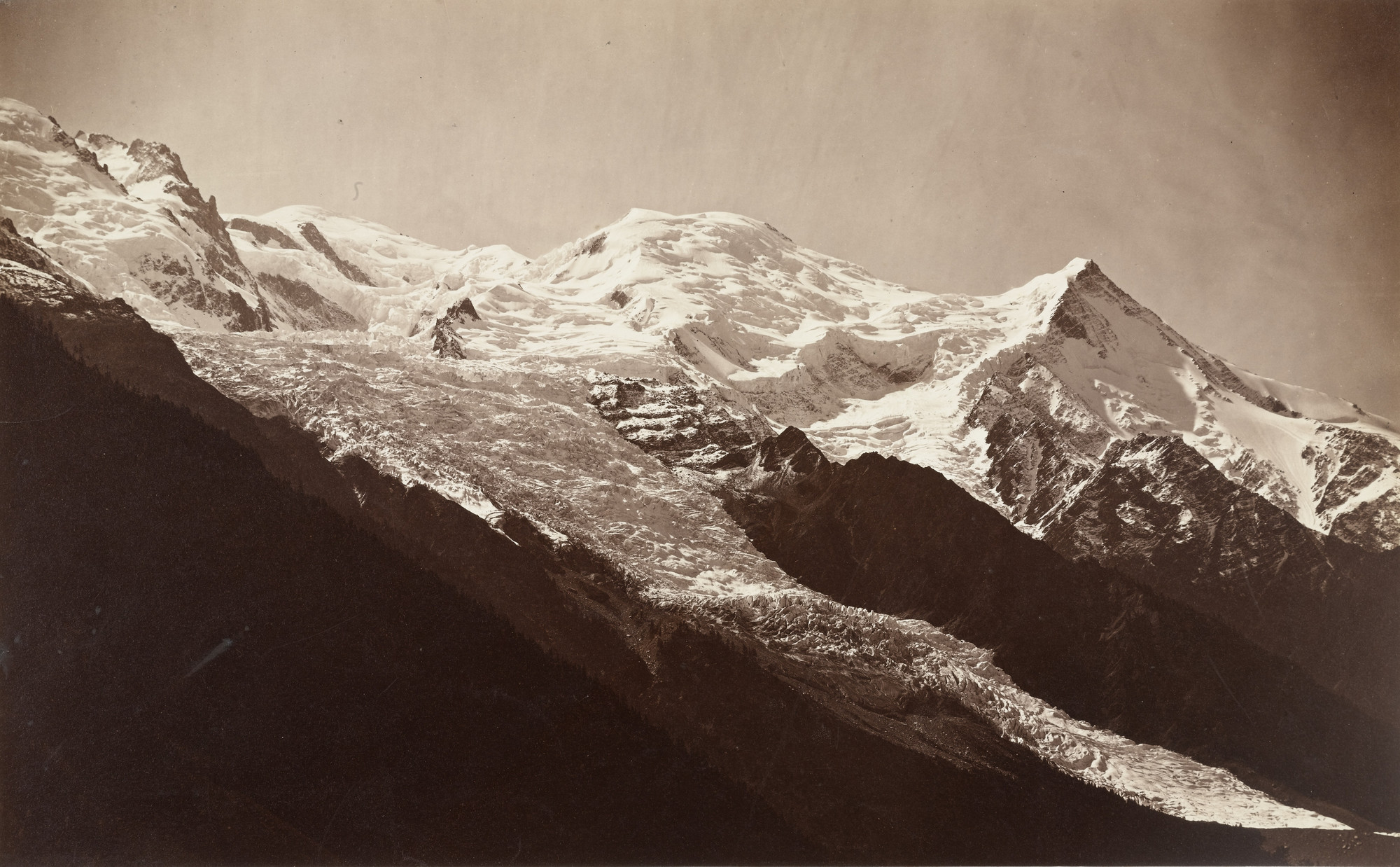 Louis-Auguste Bisson, Auguste-Rosalie Bisson. The Ascent of Mont Blanc. 1860