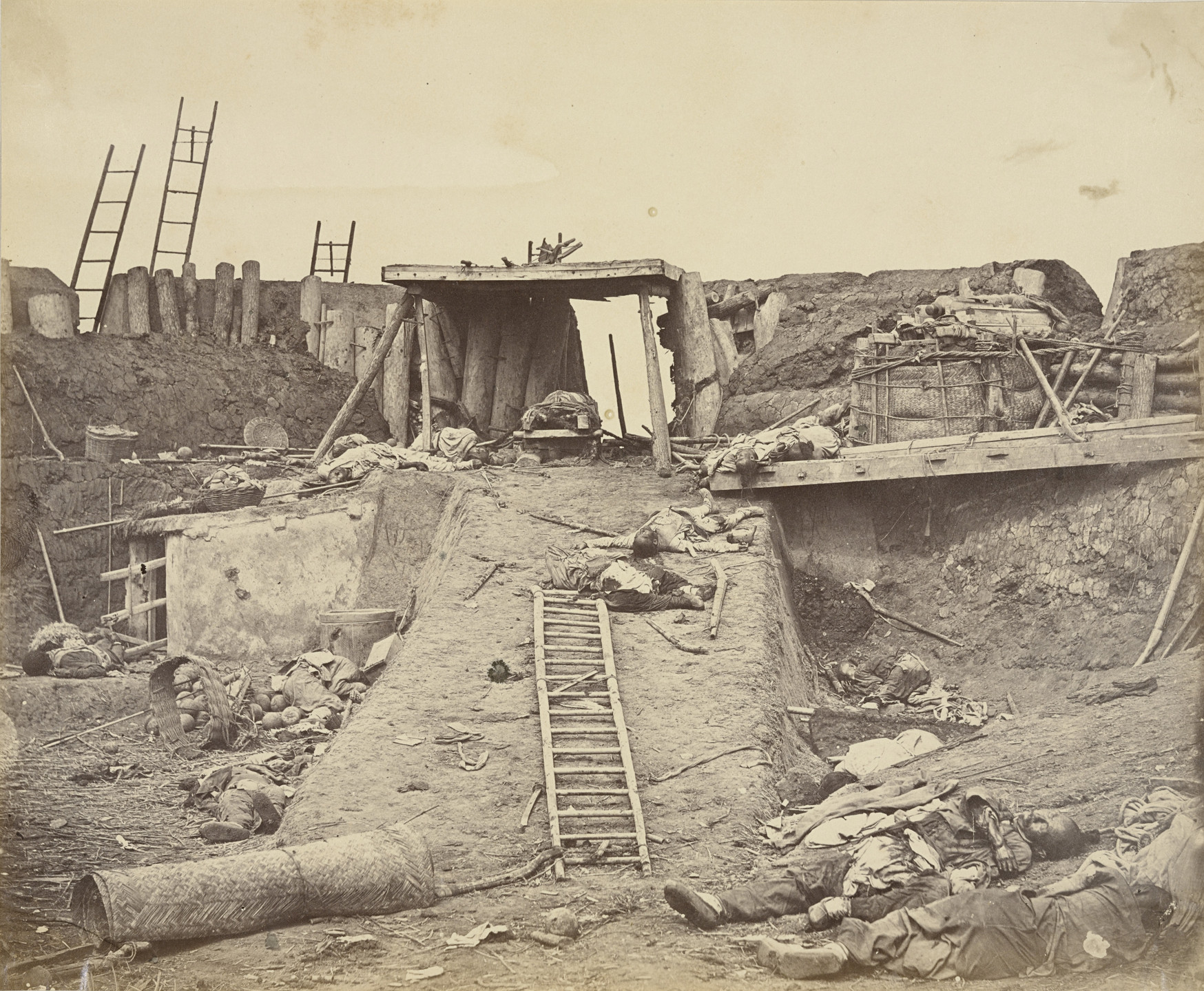 Felice Beato. Interior of the Angle of North Fort. 21 August, 1860
