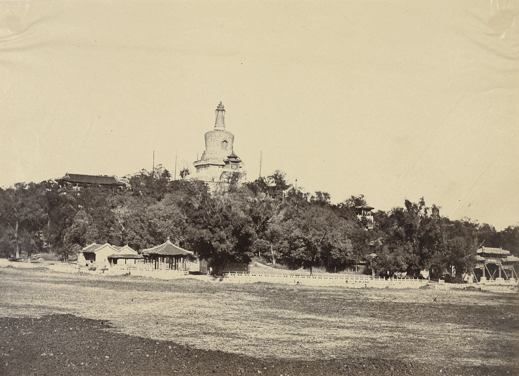 Felice Beato. The Great Pagoda in the Imperial Winter Palace, Pekin. October 29,1860