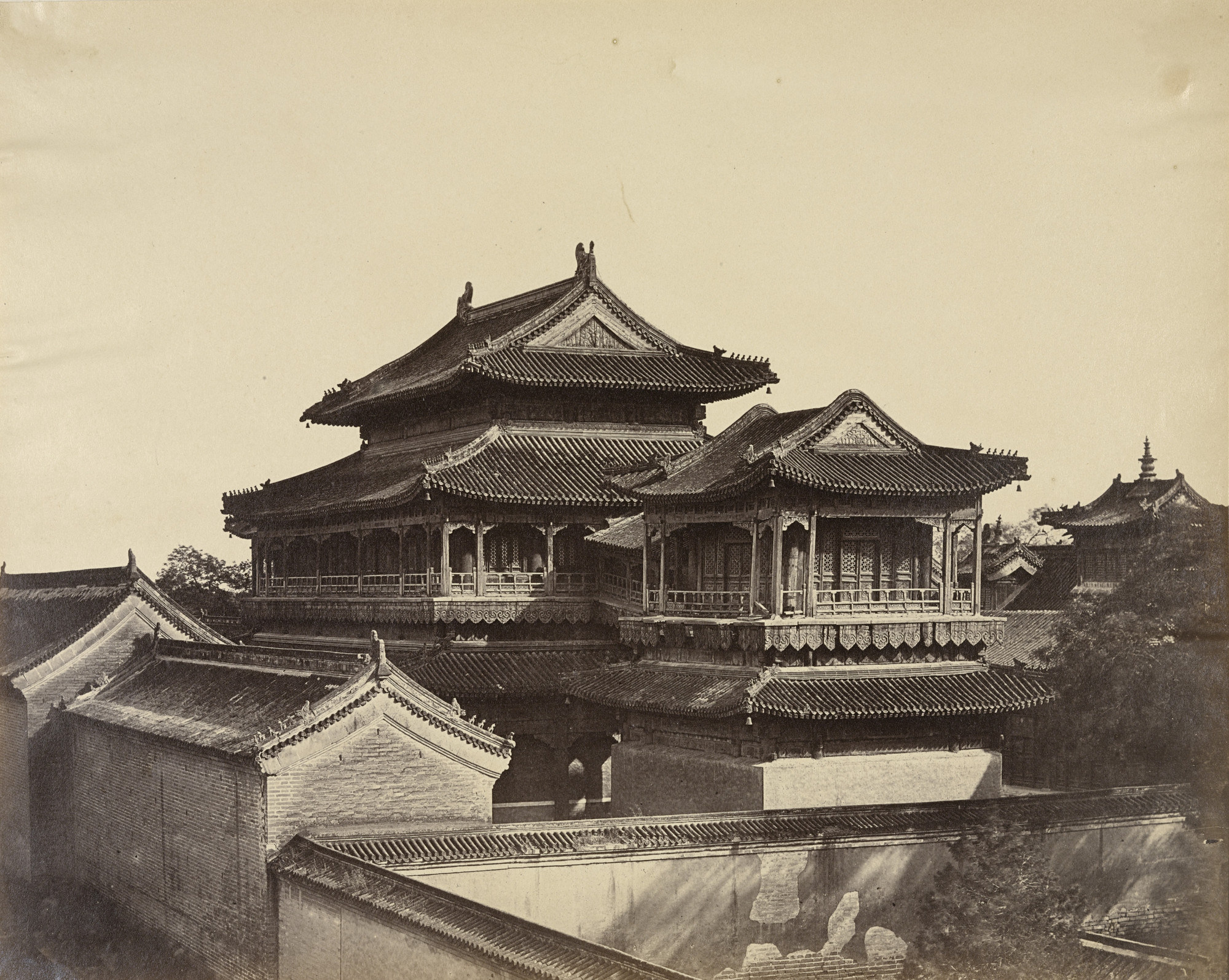 Felice Beato. Temple of Confucius, Pekin. October 1860