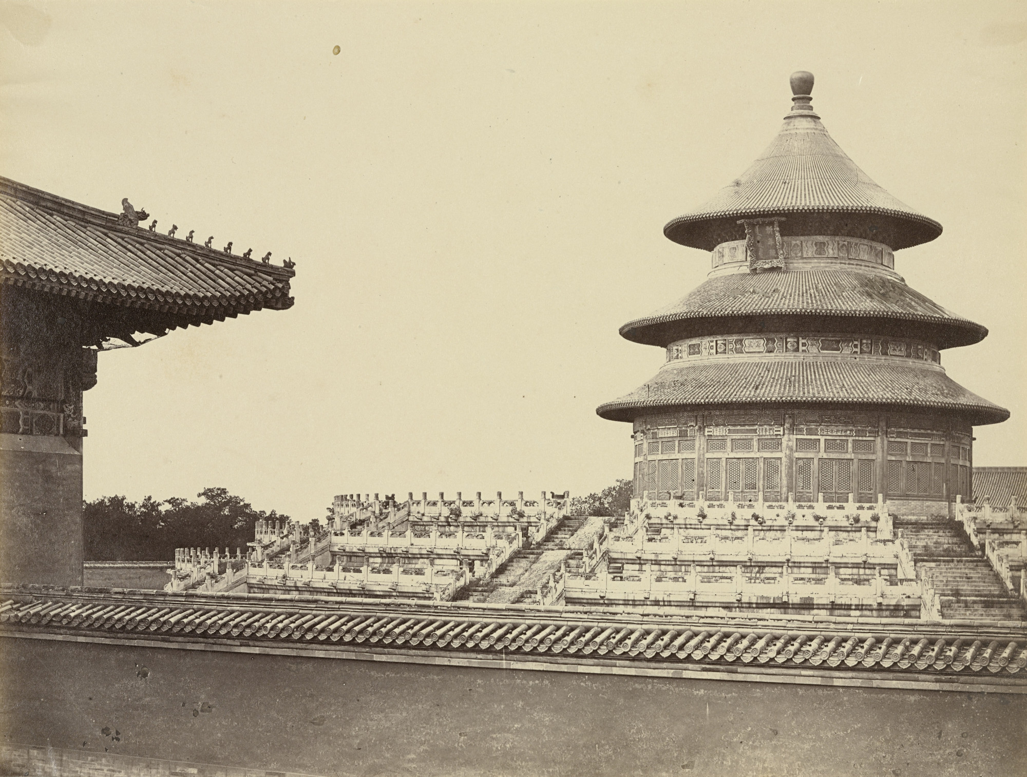 Felice Beato. Temple of Heaven from the Place Where the Priests are Burnt in the Chinese City of Pekin. October 1860