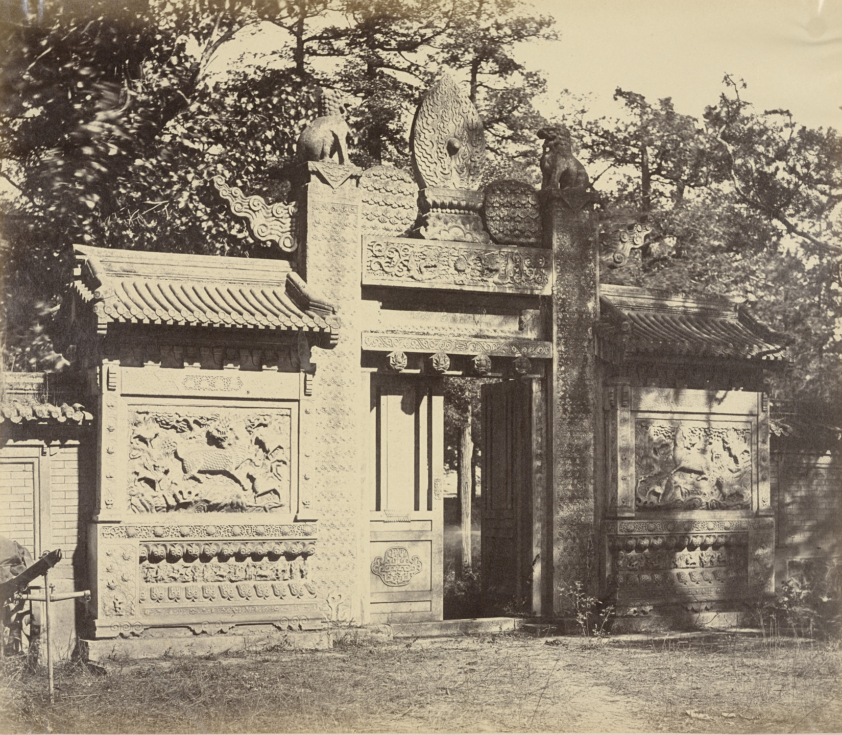 Felice Beato. Exterior of the Tomb at the Depot Near Pekin, October 1860. 1860