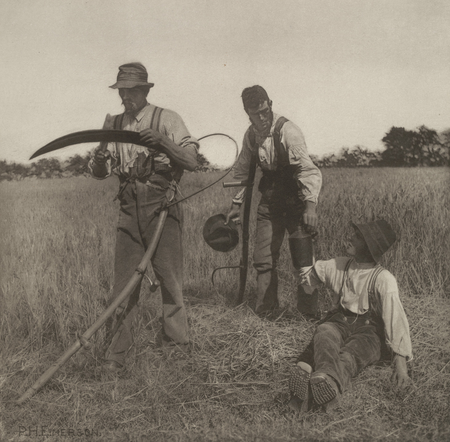 Peter Henry Emerson. In the Barley Harvest. 1888