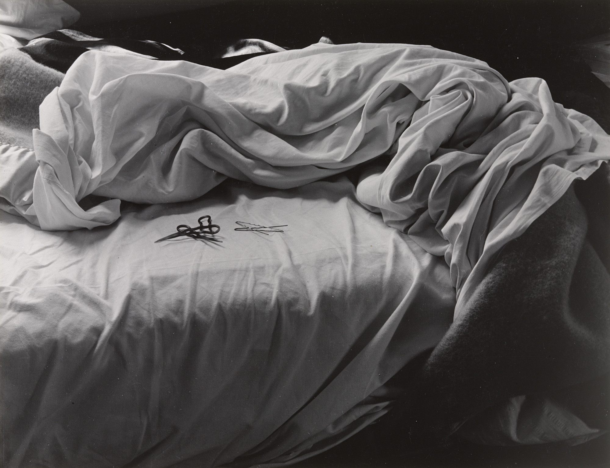 Imogen Cunningham. The Unmade Bed. 1958
