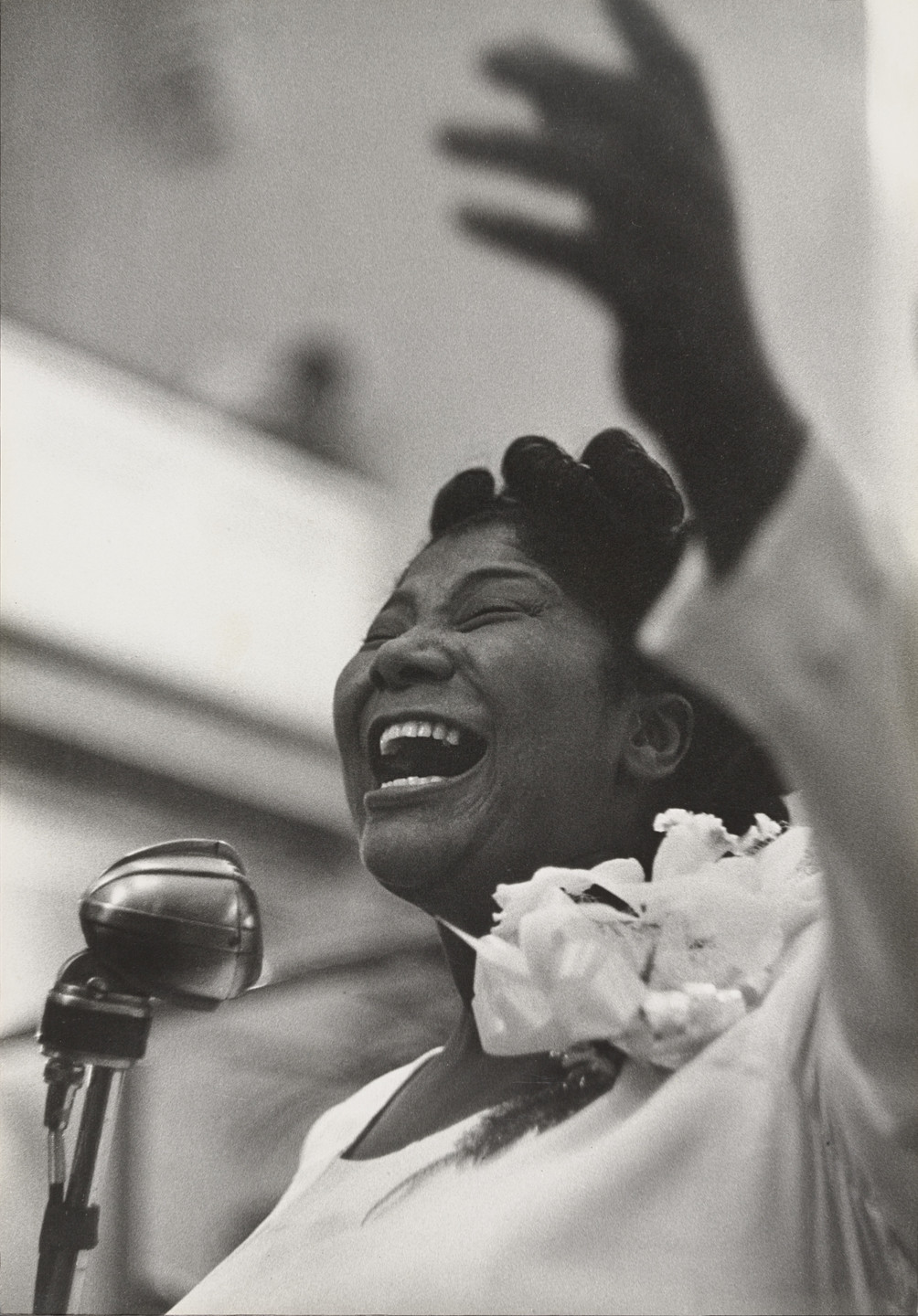 Roy DeCarava. Mahalia Jackson, Singing. 1957
