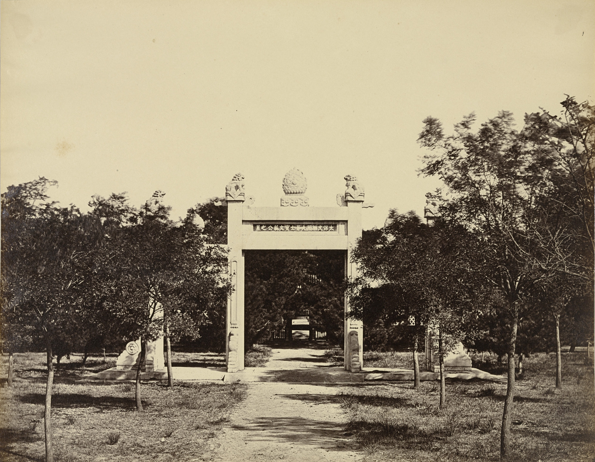Felice Beato. Tomb near Palichiao, the Scene of the Commencement of the Attack on September 21st. 1860