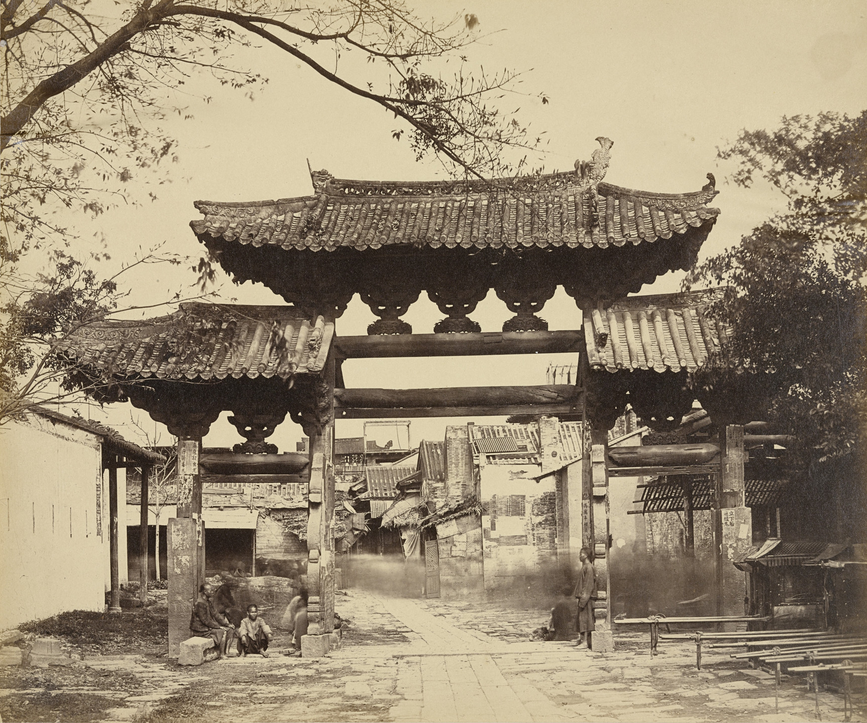 Felice Beato. East Street from Yamun, Canton. April 1860