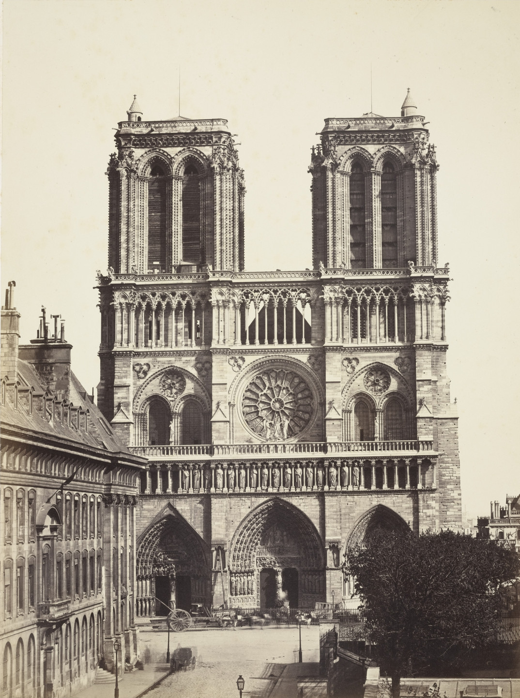 Louis-Auguste Bisson, Auguste-Rosalie Bisson. Cathedral of Notre Dame, Paris. c. 1853