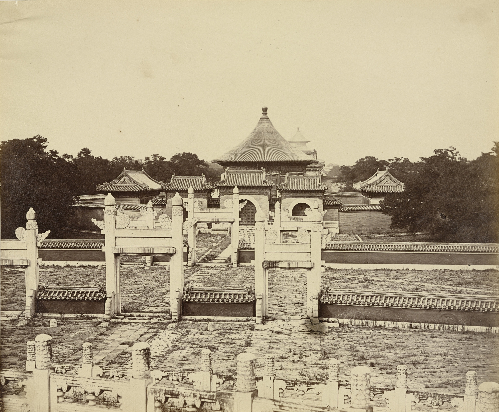 Felice Beato. Interior and Arches of the Temple of Heaven, Where the Emperor Sacrifices Once a Year in the Chinese City of Peking. October 1860