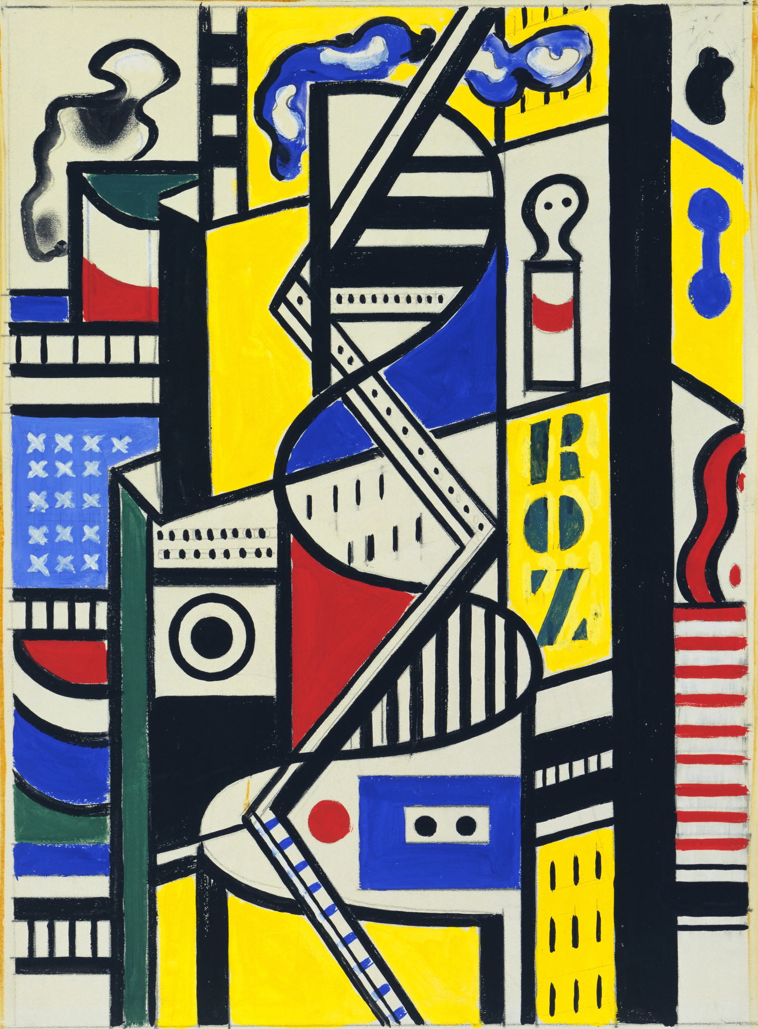 Fernand Léger. Study for Cinematic Mural, Study VI. 1938–39