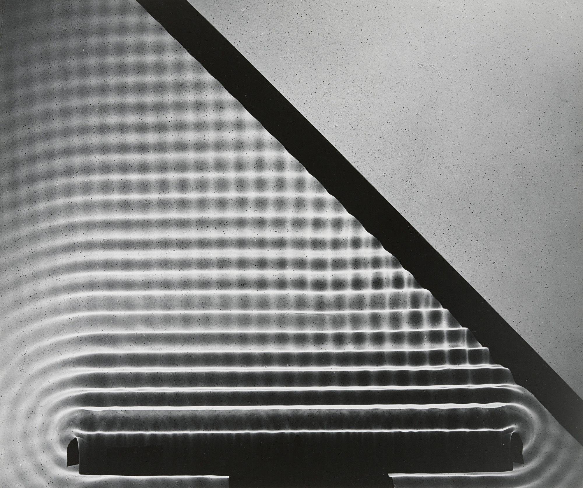 Berenice Abbott. Photogram: Wave Pattern, MIT. 1958-61