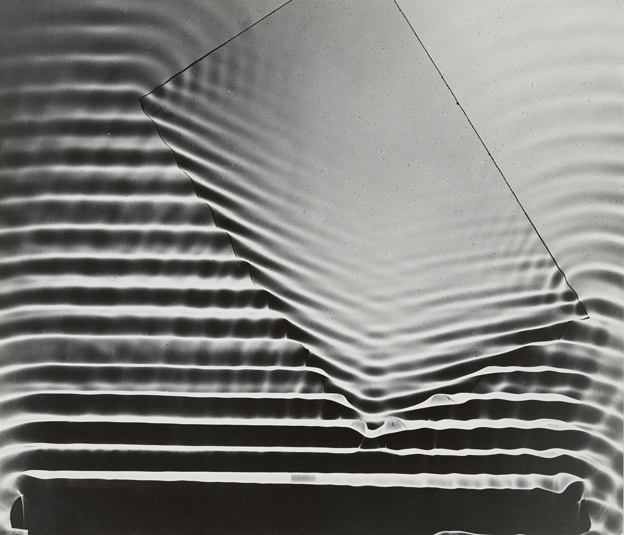 Berenice Abbott. Wave Pattern with Glass Plate, Massachusetts Institute of Technology. 1958-61