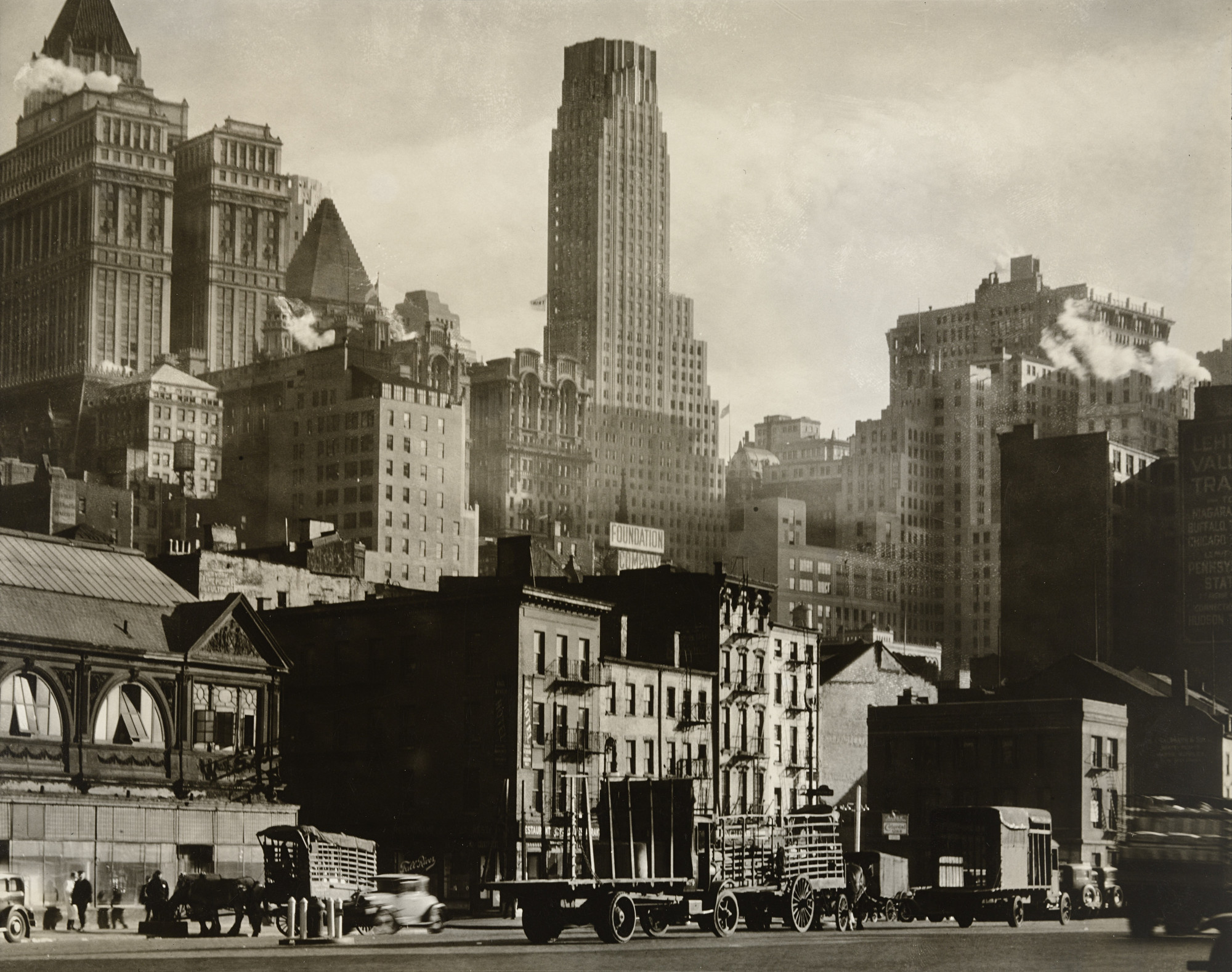 Berenice Abbott. View from West Street, Manhattan. March 23, 1938