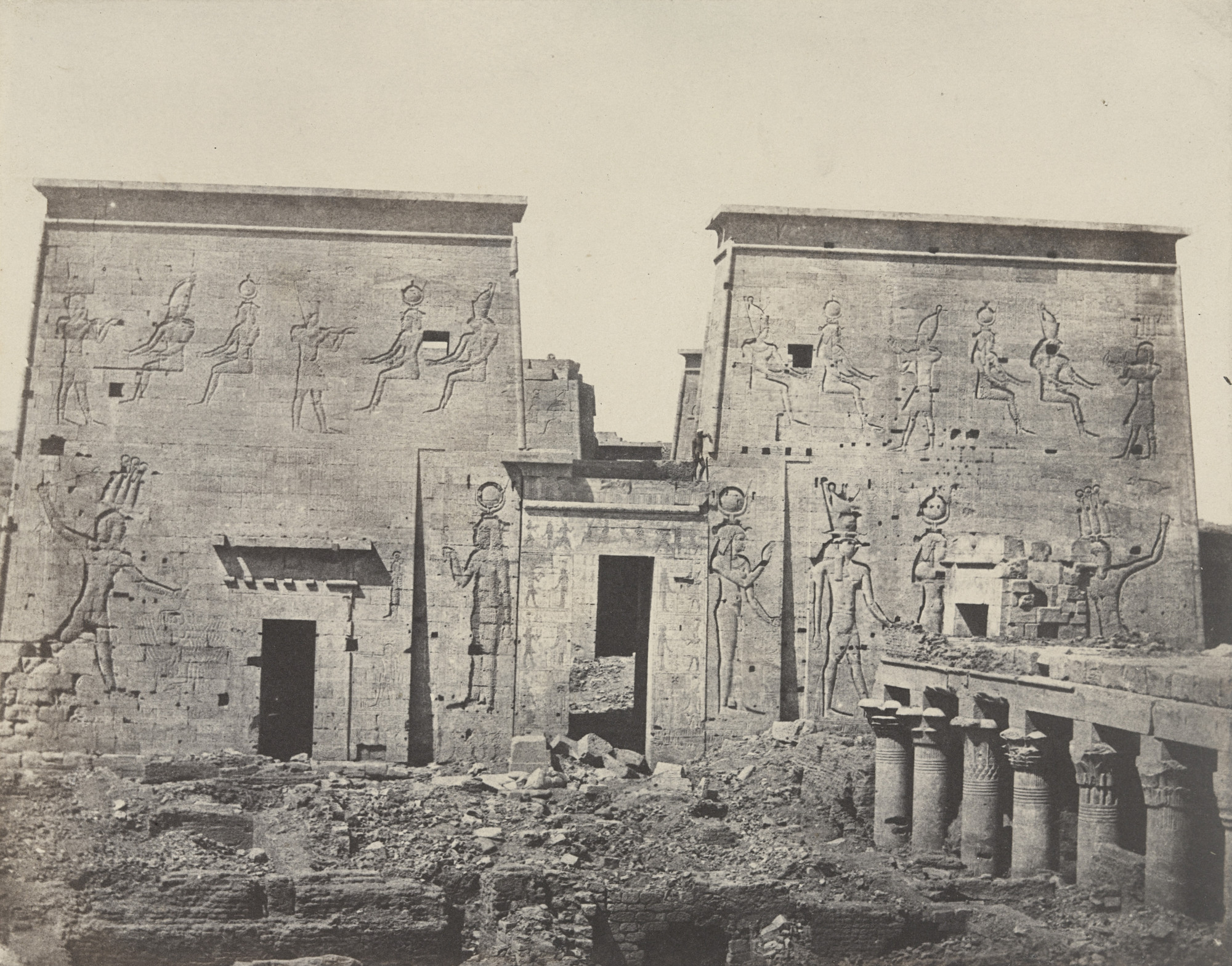 Maxime Du Camp. Grand Temple d'isis, à Philoe. c. 1849