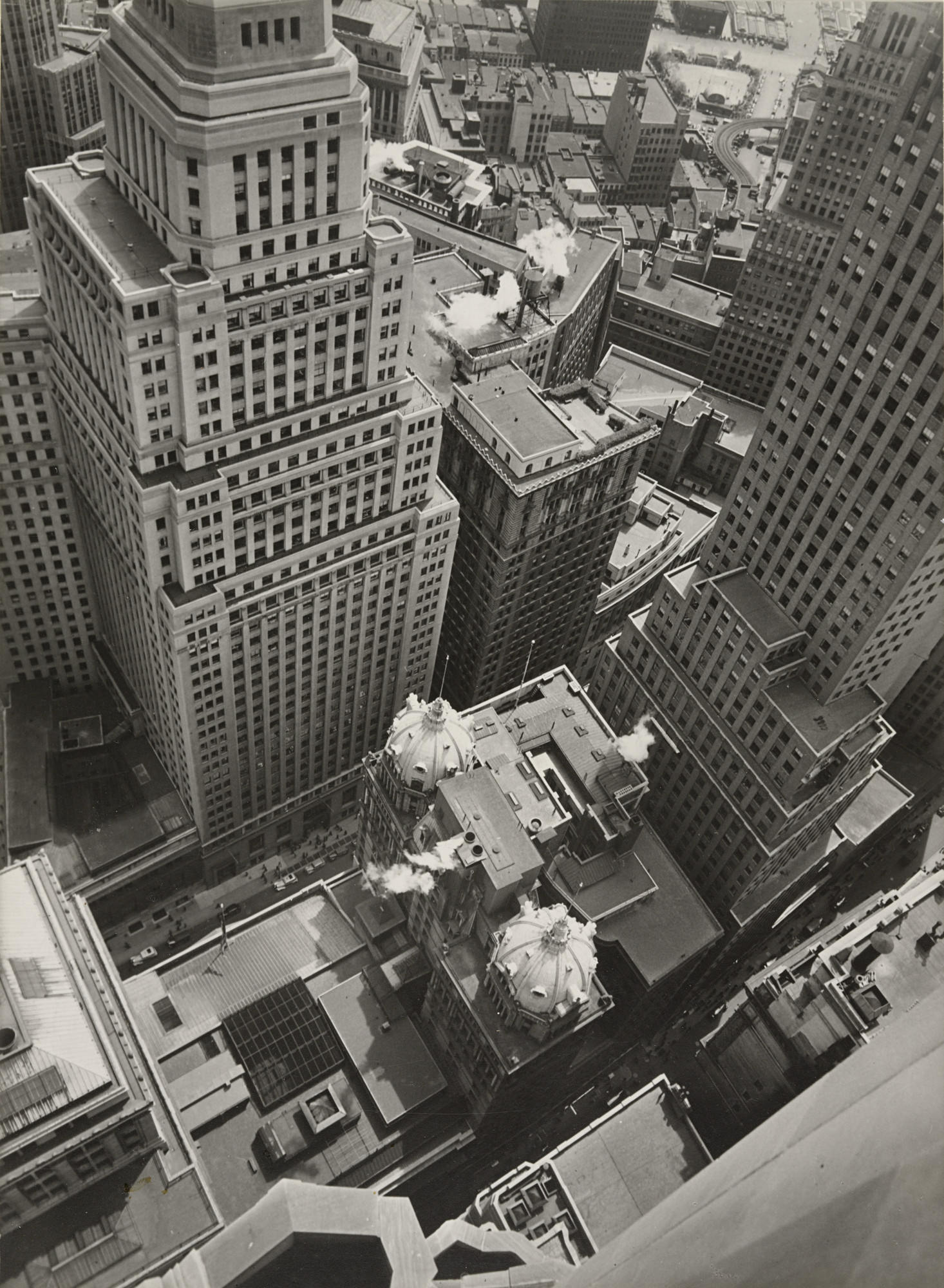 Berenice Abbott. Financial District Rooftops I, Manhattan. May 4, 1938