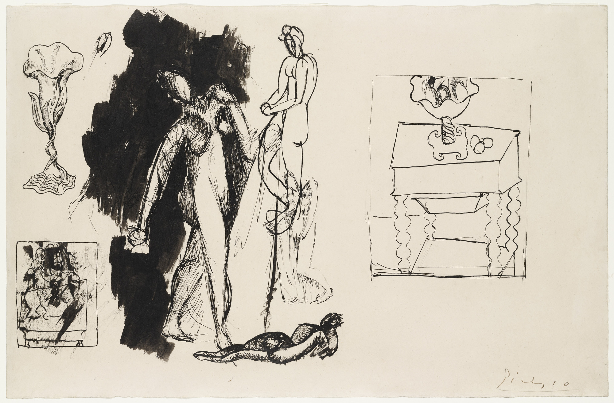 Pablo Picasso. Sheet of Studies. (1908)