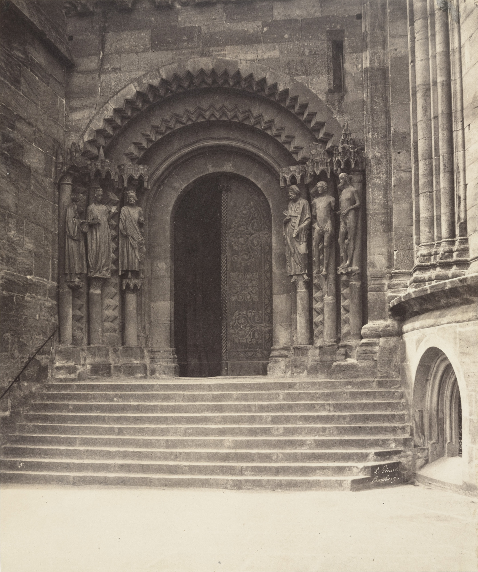 Léon Gérard. Left Side of East Porch, Cathedral of Bamberg. 1857