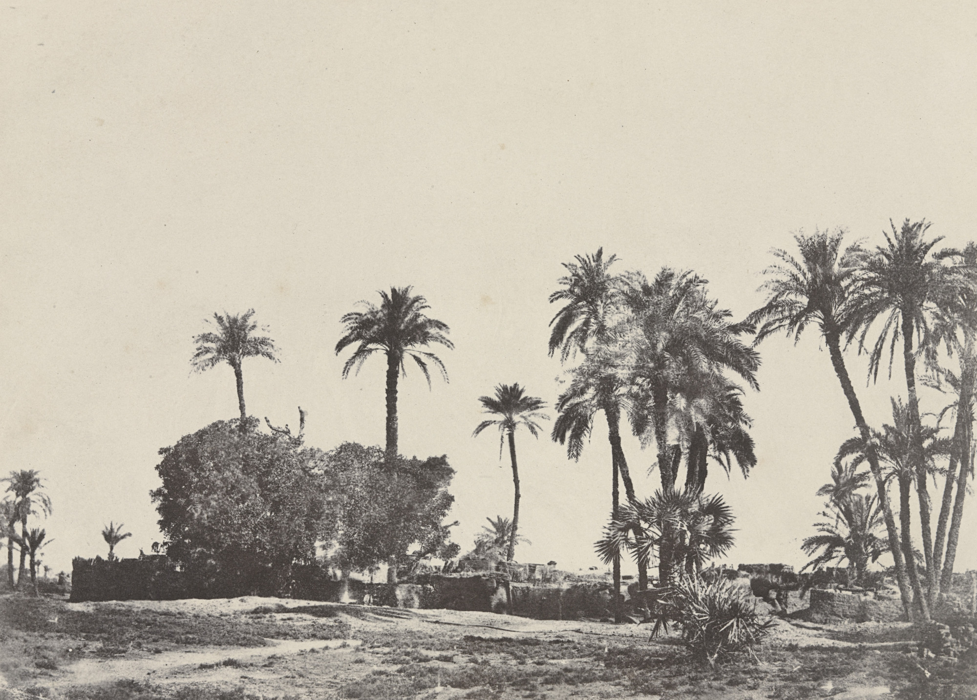 Maxime Du Camp. Village de Hamameh. 1849