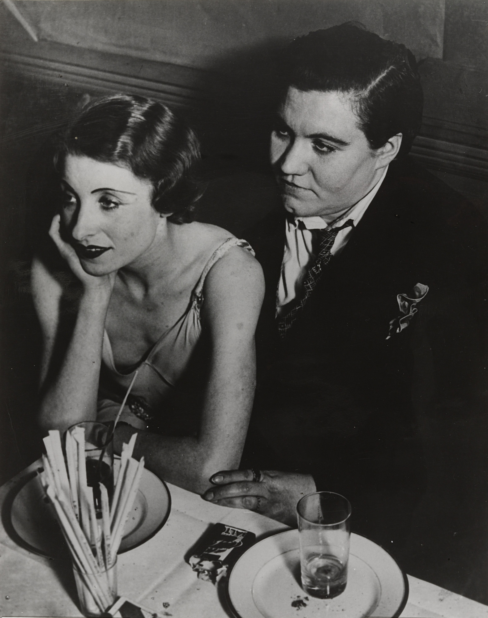 Brassaï (Gyula Halász). A Couple at Le Monocle, Paris. 1933