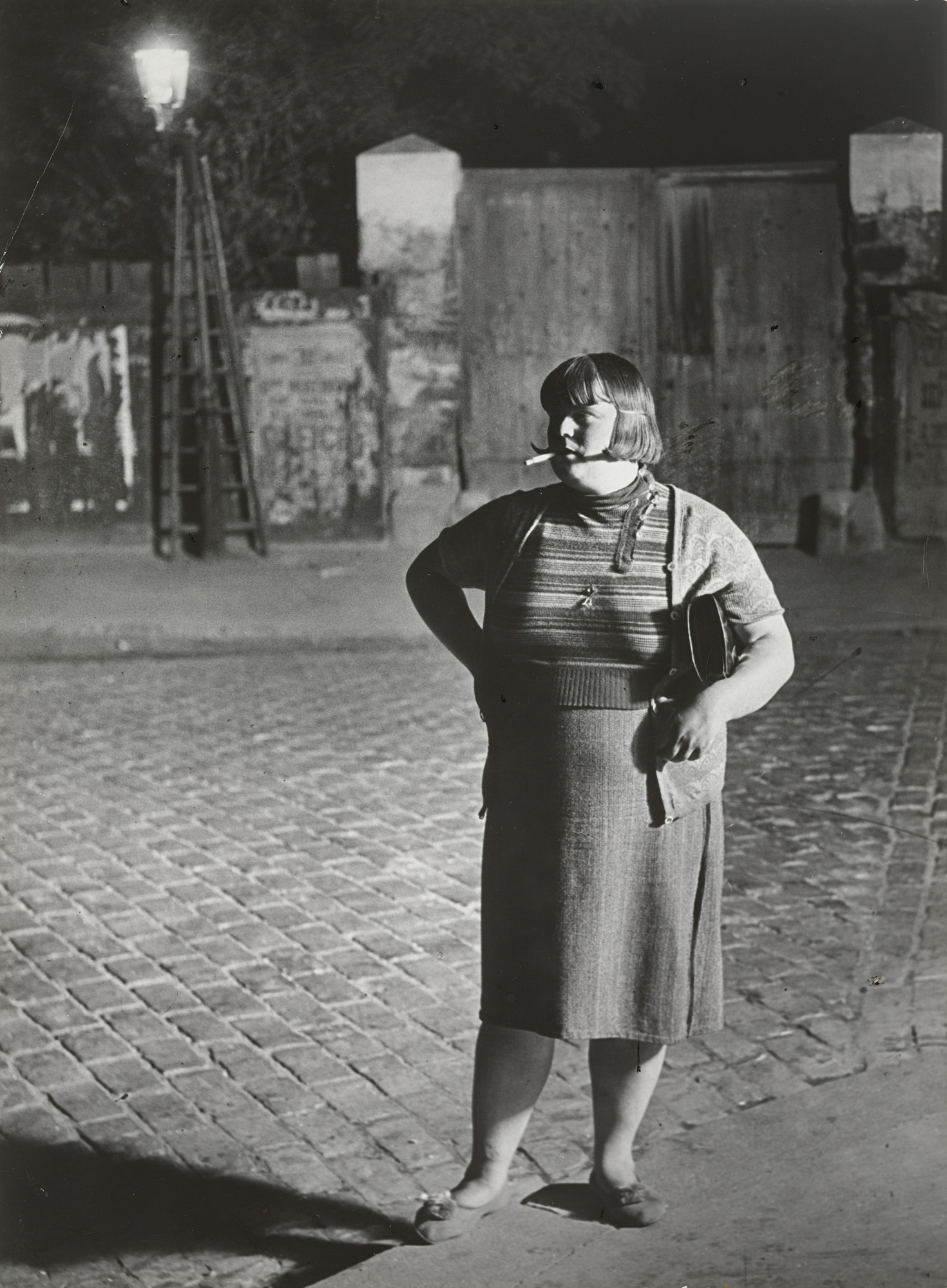 Brassaï (Gyula Halász). Streetwalker near the Place d'Italie, Paris (facing camera). 1932