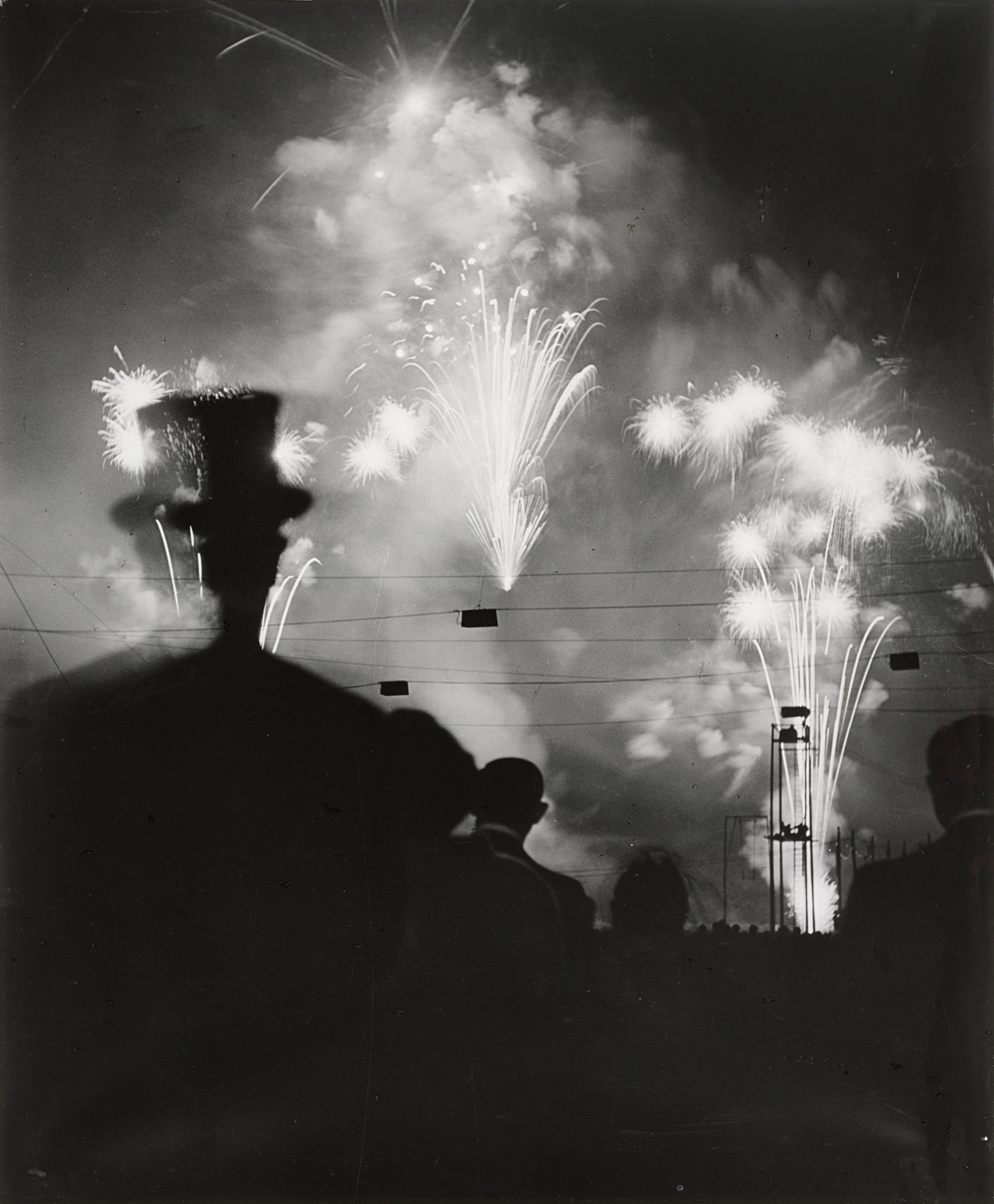 Brassaï (Gyula Halász). Fireworks on the Night of Longchamp. 1936