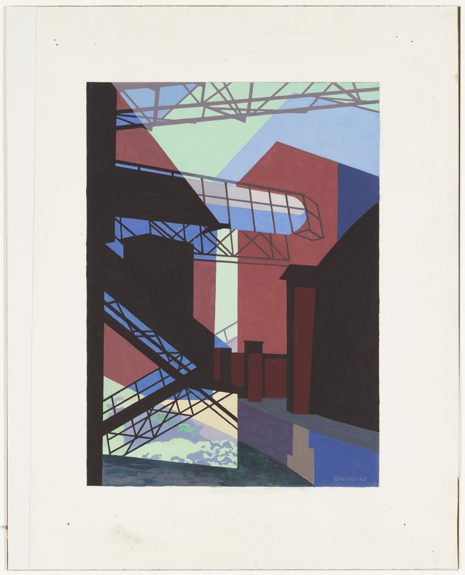 Charles Sheeler. Industrial Architecture. 1949
